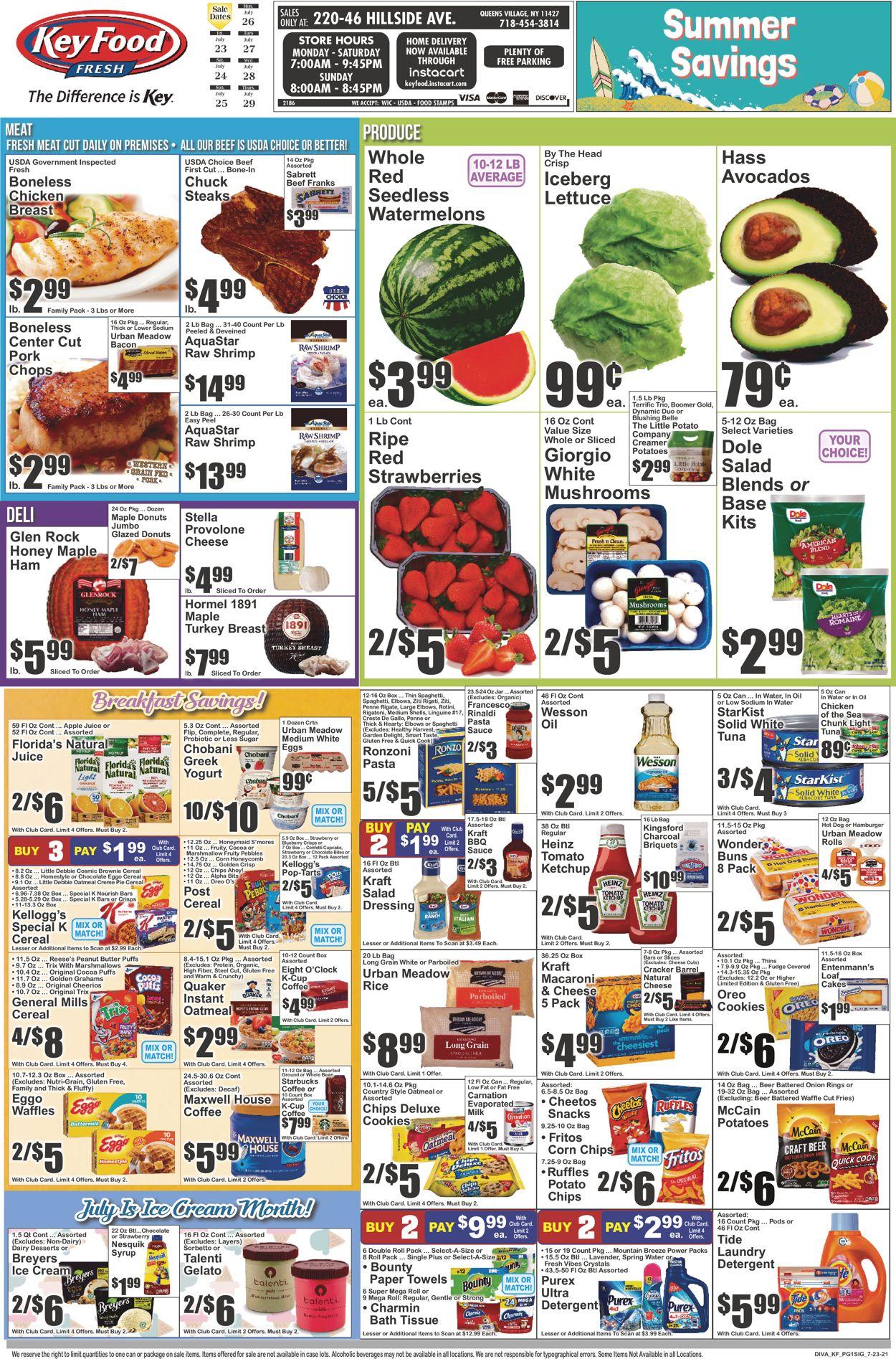 Key Food Weekly Ad Circular - valid 07/23-07/29/2021