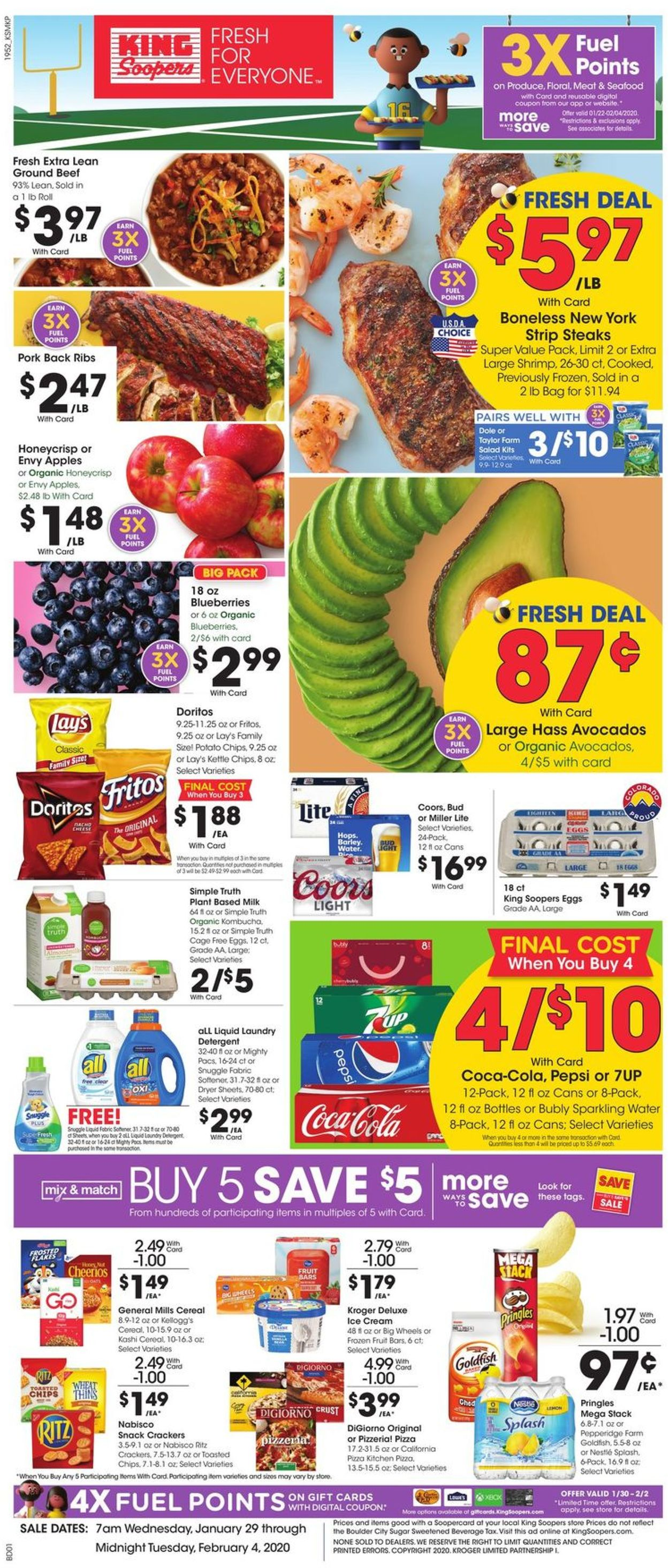 King Soopers Weekly Ad Circular - valid 01/29-02/04/2020