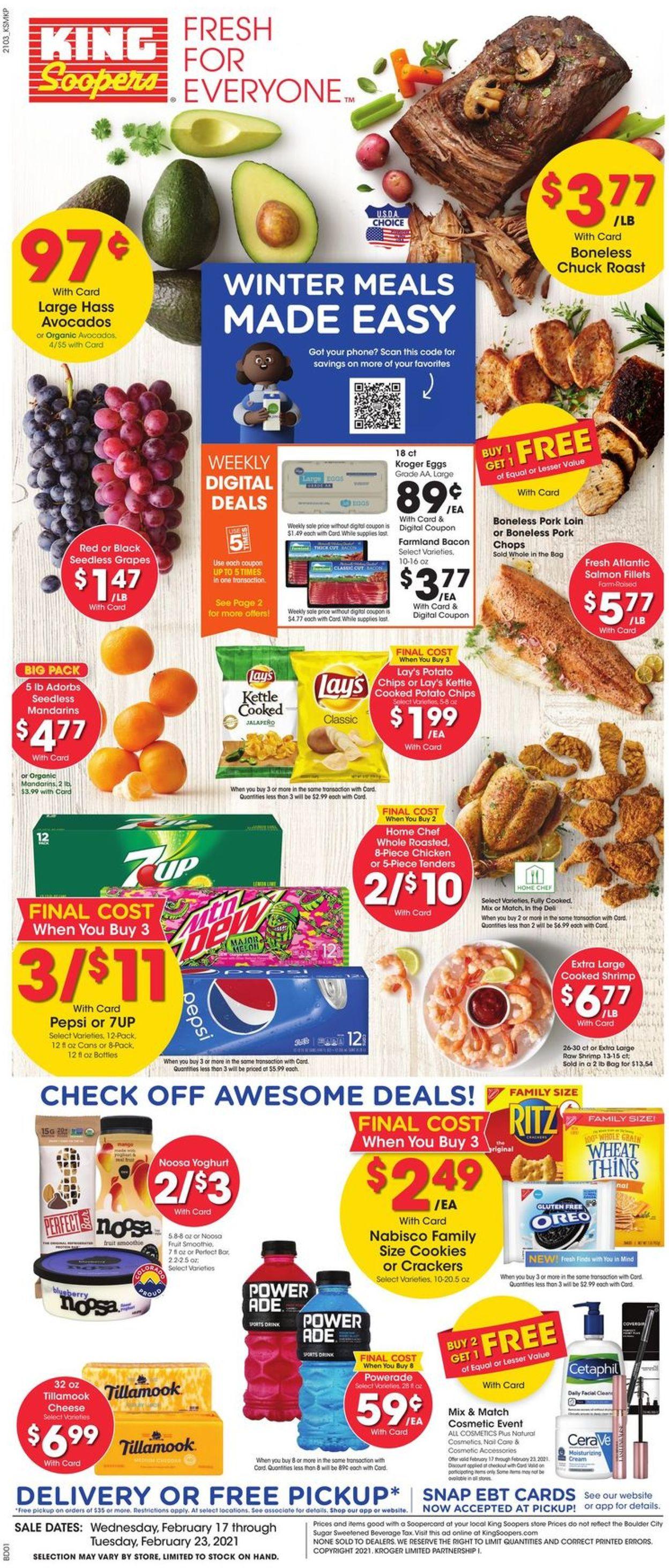 King Soopers Weekly Ad Circular - valid 02/17-02/23/2021