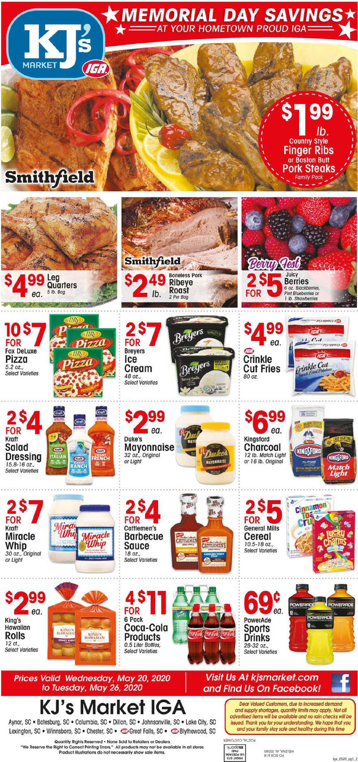 KJ´s Market Weekly Ad Circular - valid 05/20-05/26/2020