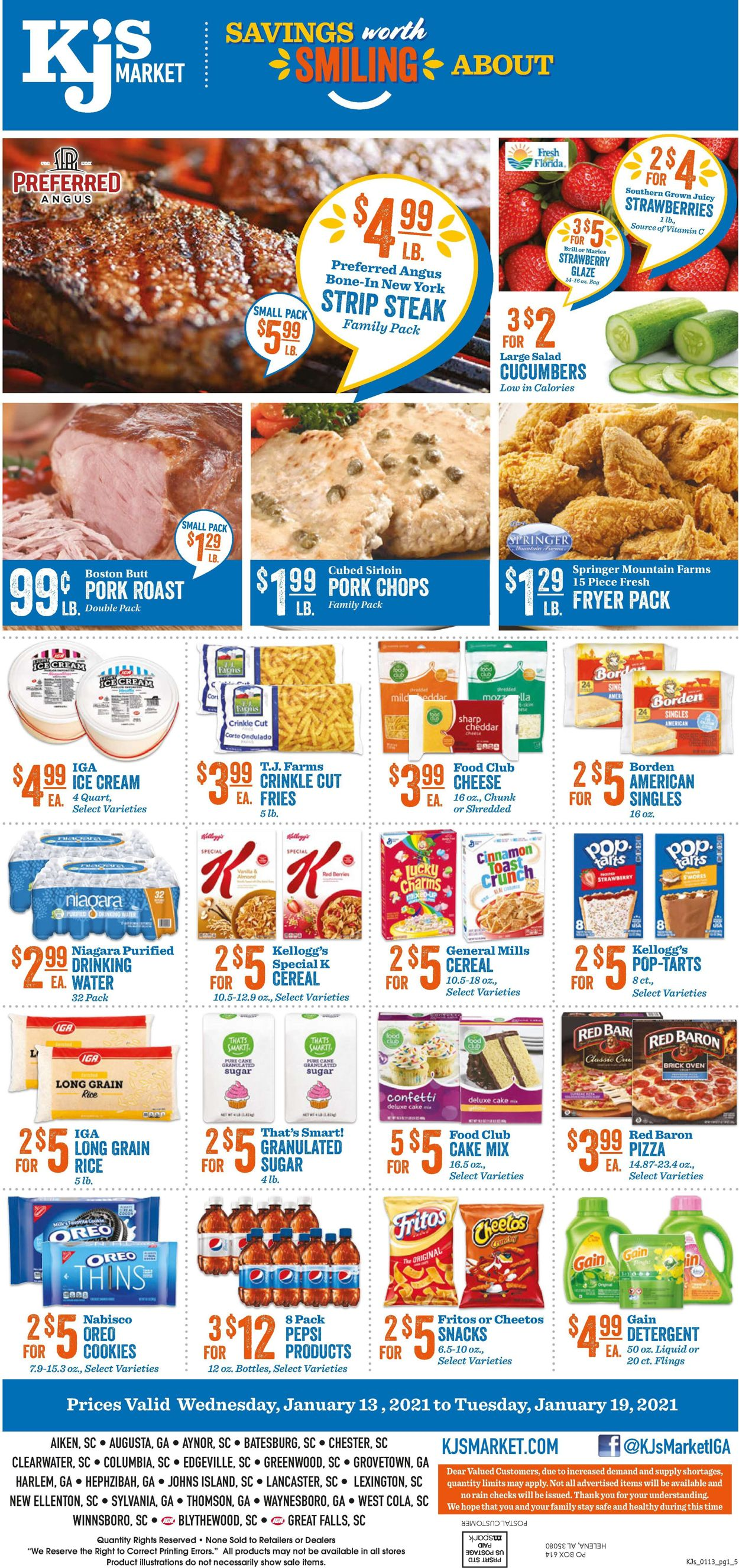 KJ´s Market Weekly Ad Circular - valid 01/13-01/19/2021