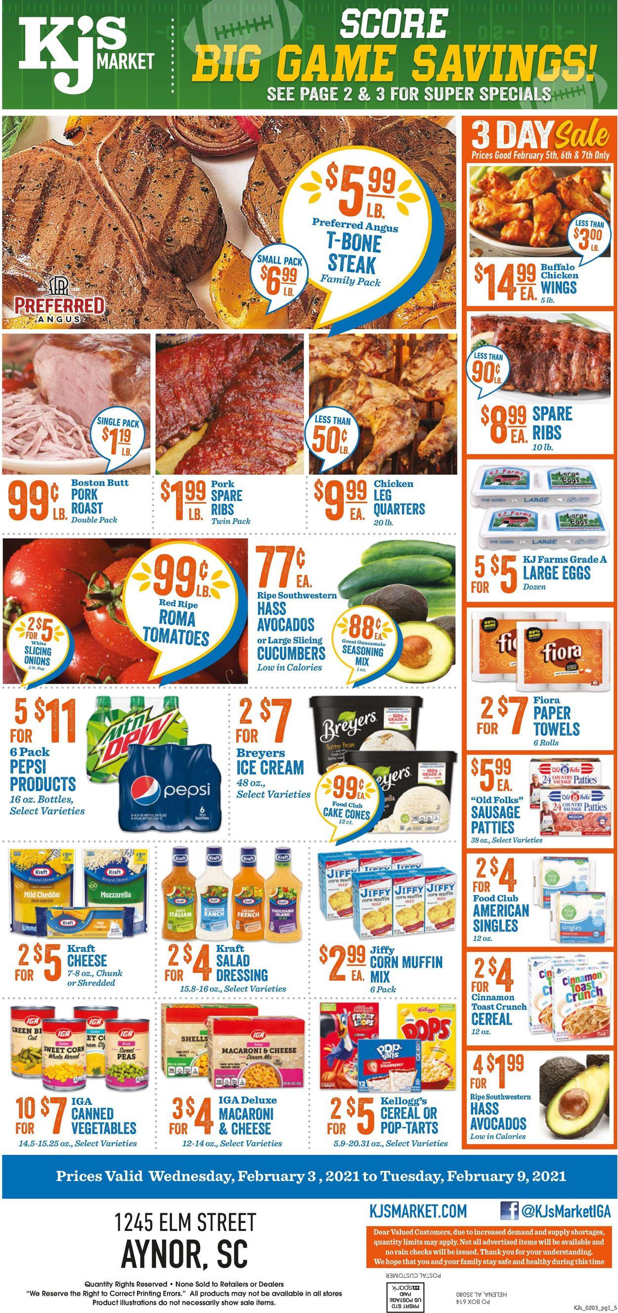 KJ´s Market Weekly Ad Circular - valid 02/03-02/09/2021