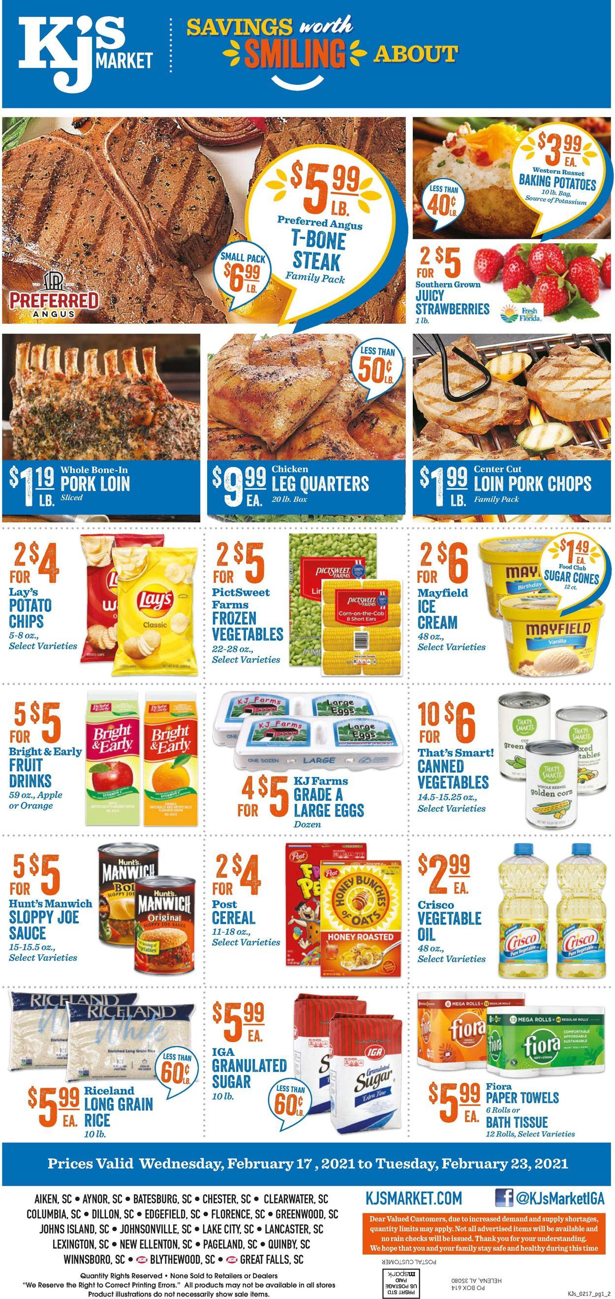 KJ´s Market Weekly Ad Circular - valid 02/17-02/23/2021