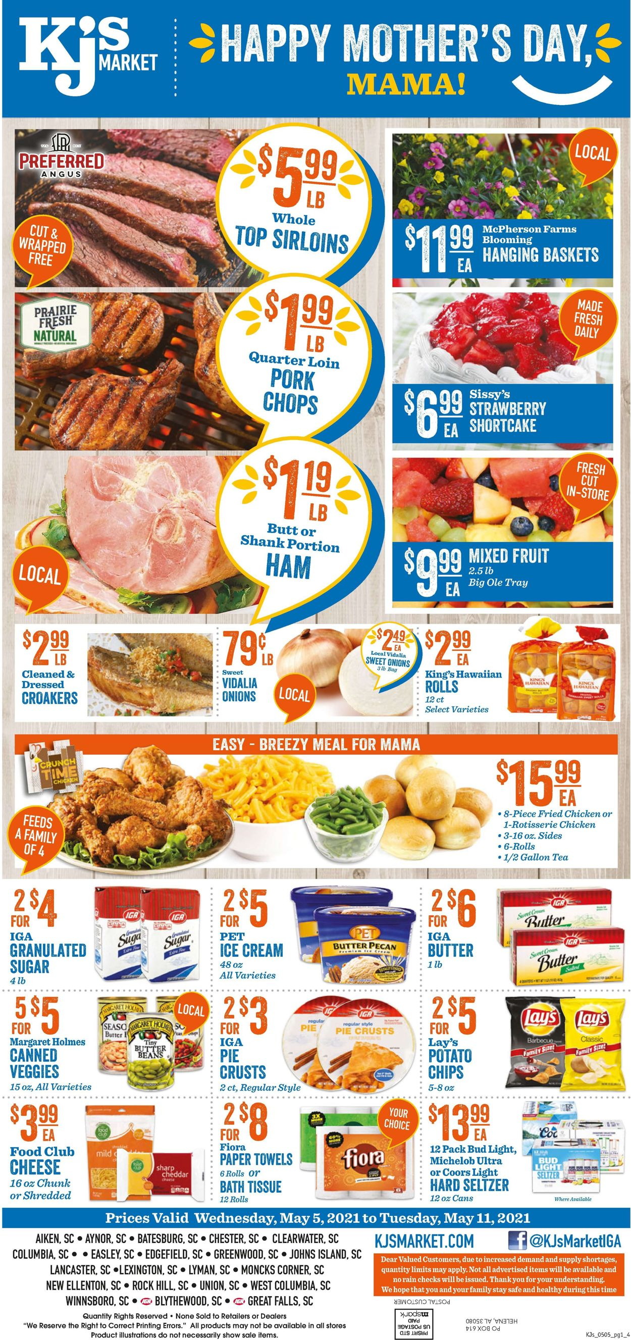 KJ´s Market Weekly Ad Circular - valid 05/05-05/11/2021