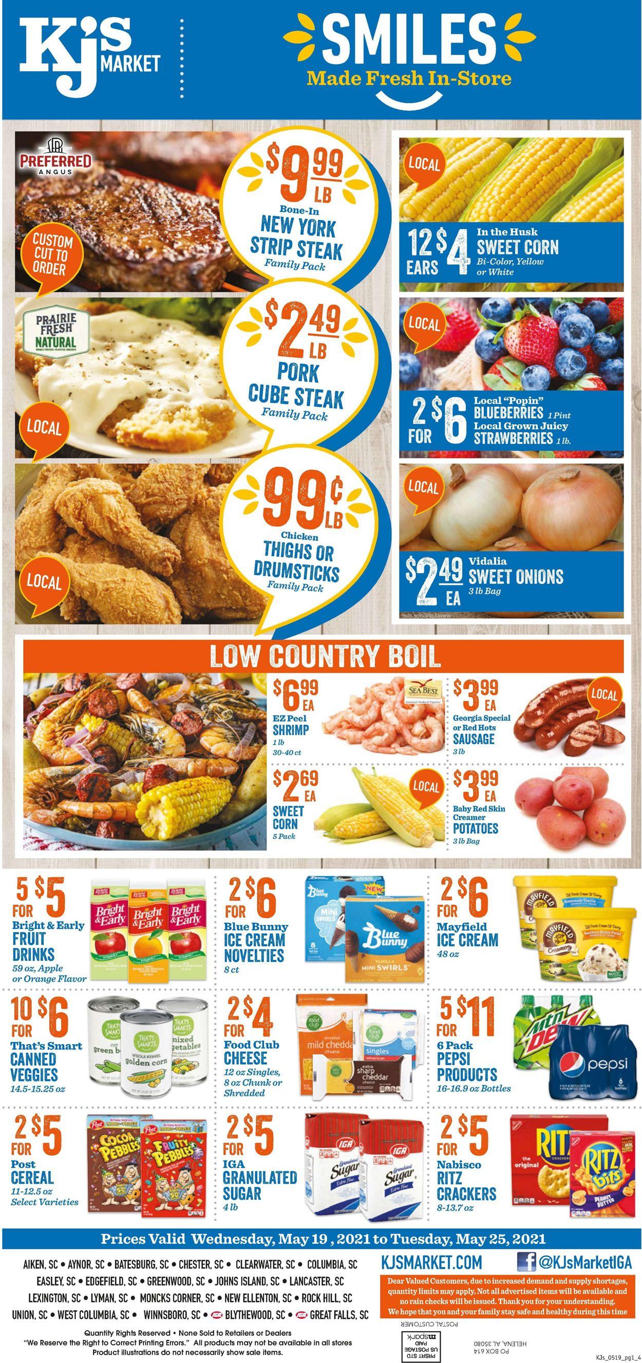 KJ´s Market Weekly Ad Circular - valid 05/19-05/25/2021