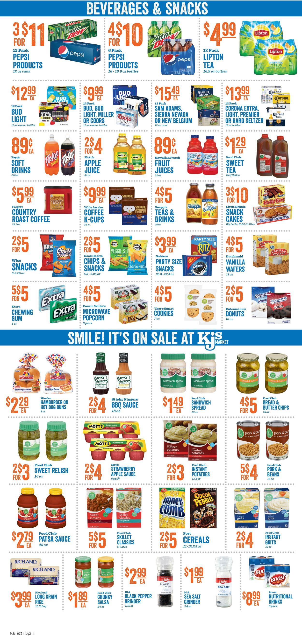 KJ´s Market Weekly Ad Circular - valid 07/21-07/27/2021 (Page 2)