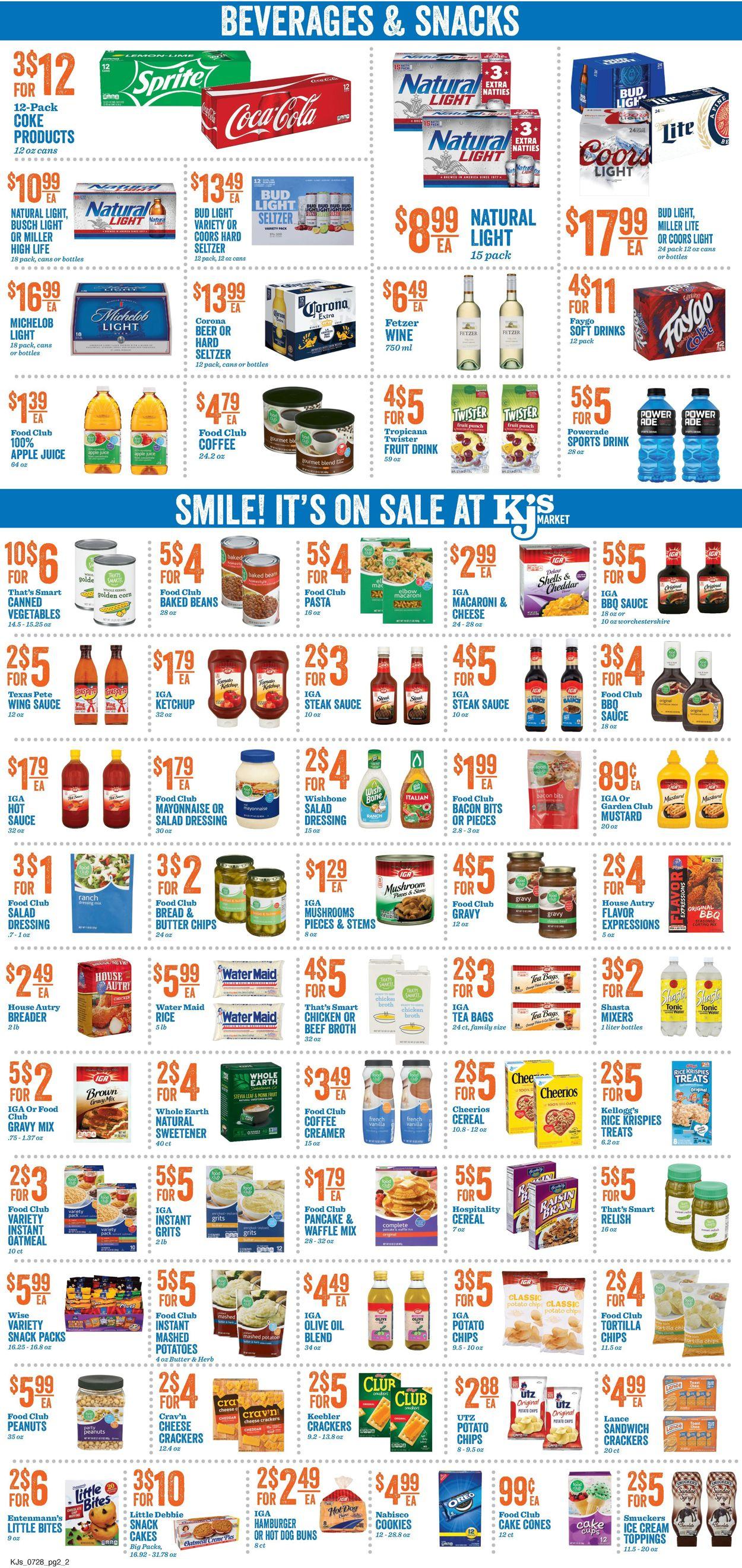 KJ´s Market Weekly Ad Circular - valid 07/28-08/03/2021 (Page 2)