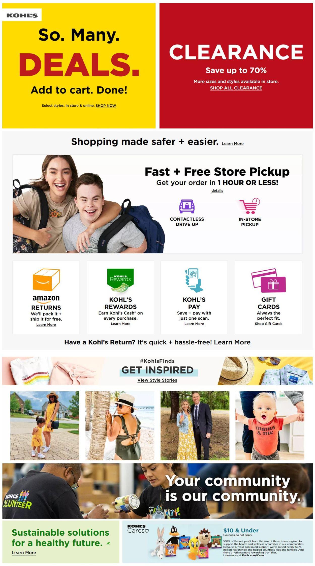 Kohl's Weekly Ad Circular - valid 07/30-08/05/2021