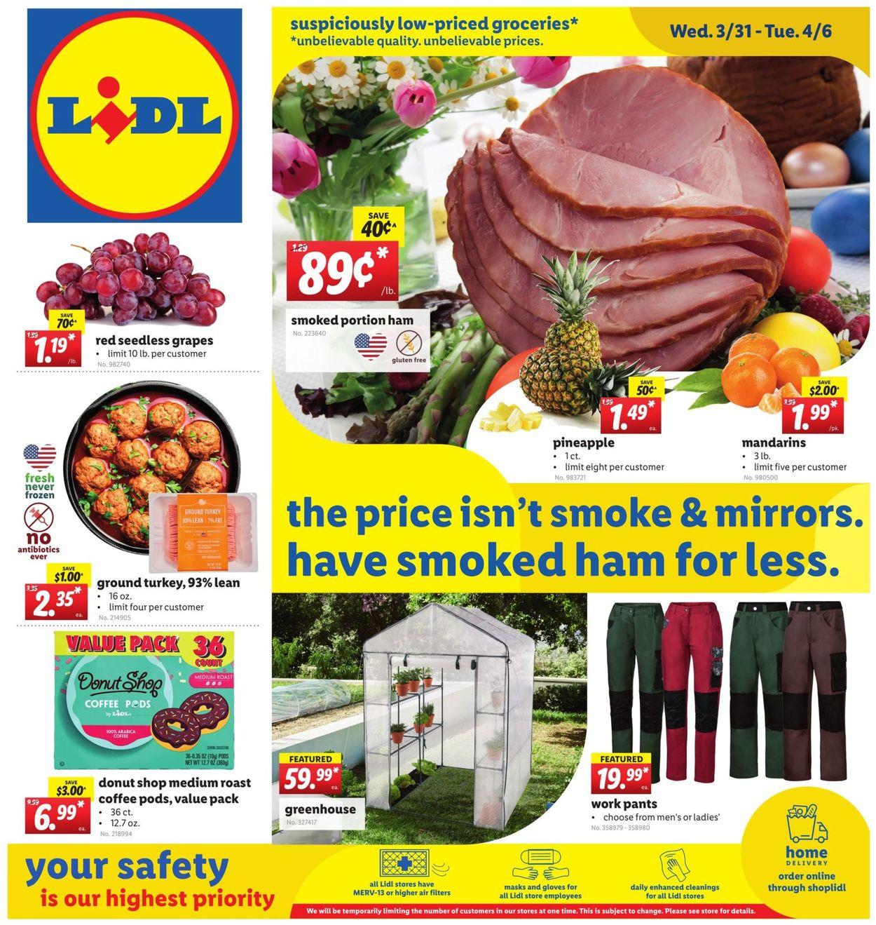 Lidl Easter 2021 Weekly Ad Circular - valid 03/31-04/06/2021