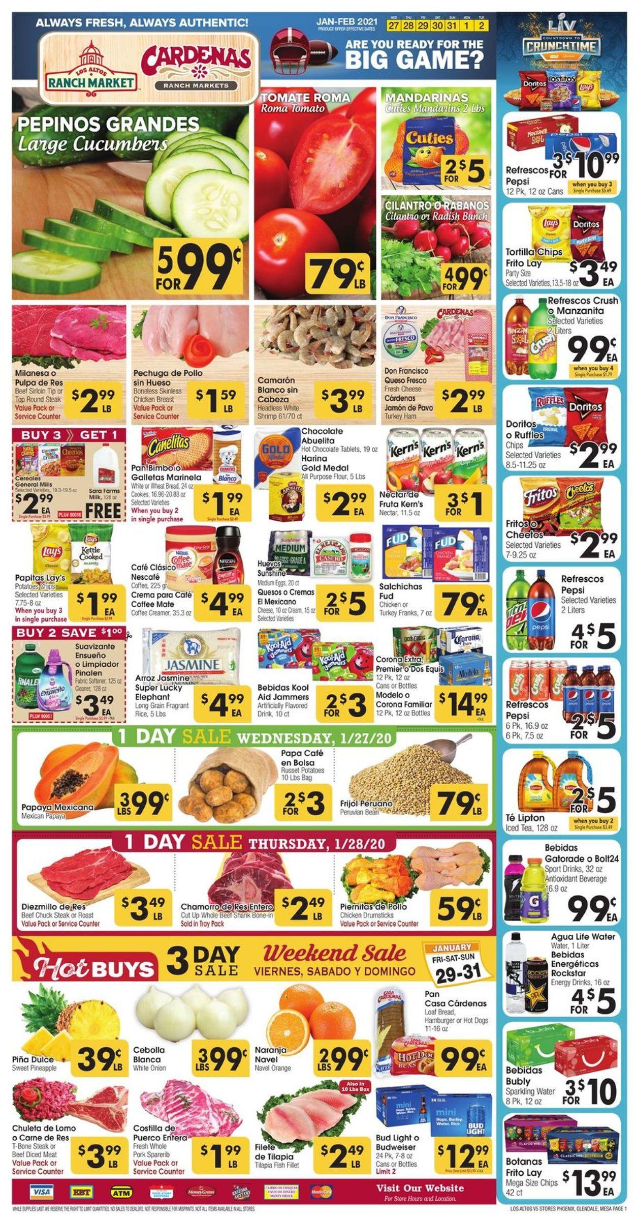 Los Altos Ranch Market Weekly Ad Circular - valid 01/27-02/02/2021