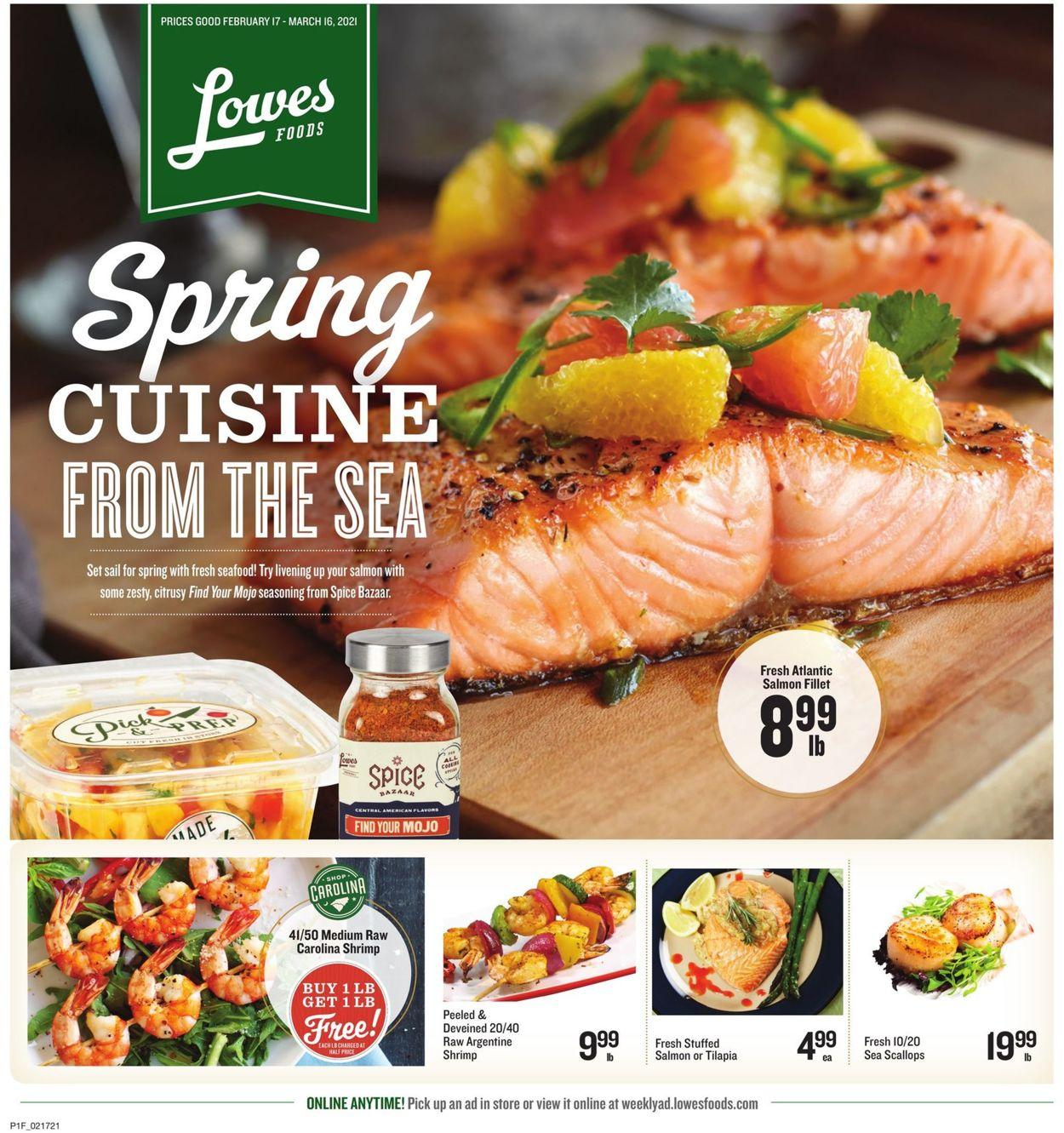 Lowes Foods Weekly Ad Circular - valid 02/17-03/16/2021