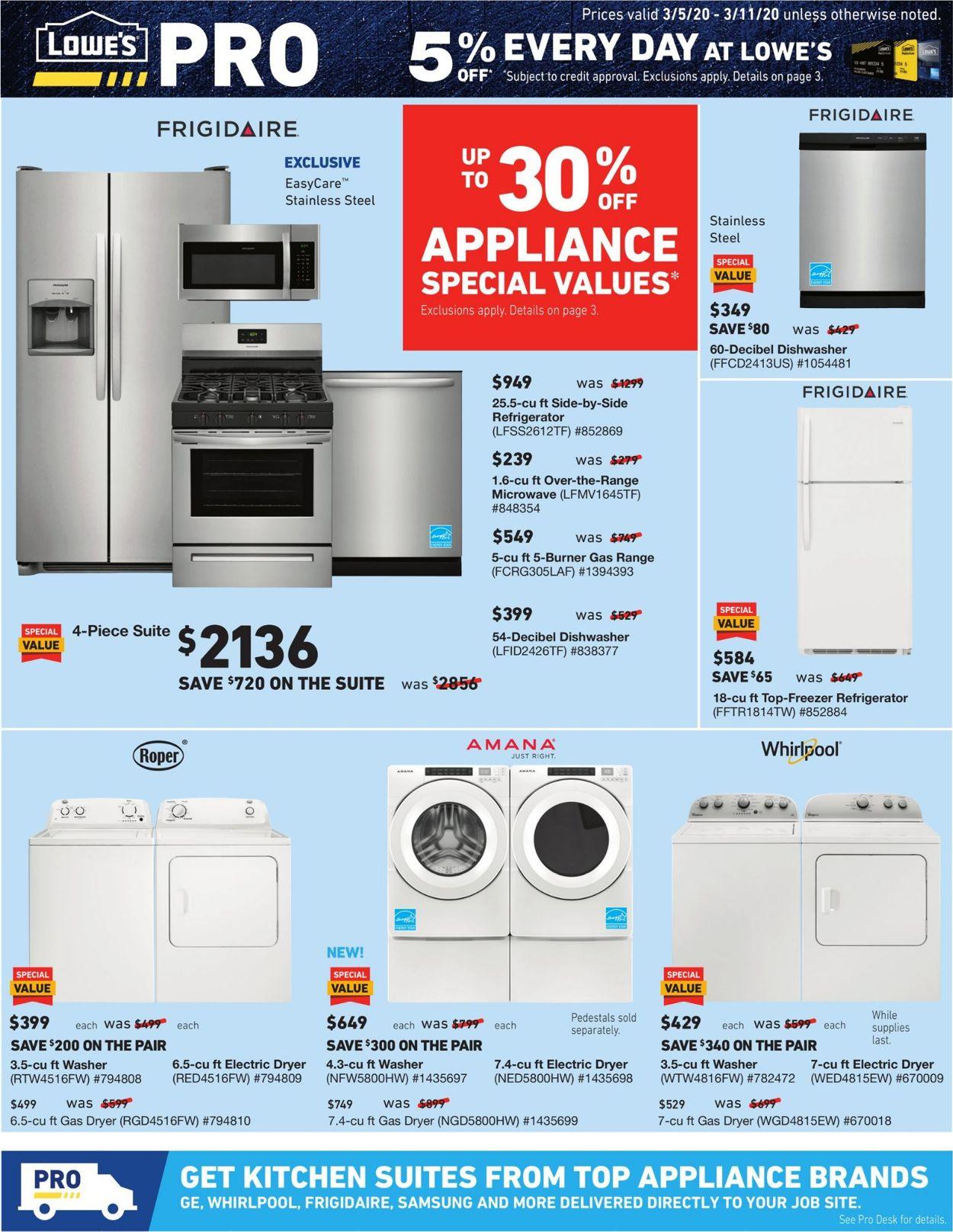 Lowe's Weekly Ad Circular - valid 03/05-03/11/2020