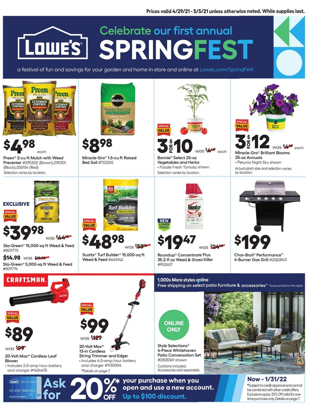 Lowe's Weekly Ad Circular - valid 04/29-05/05/2021