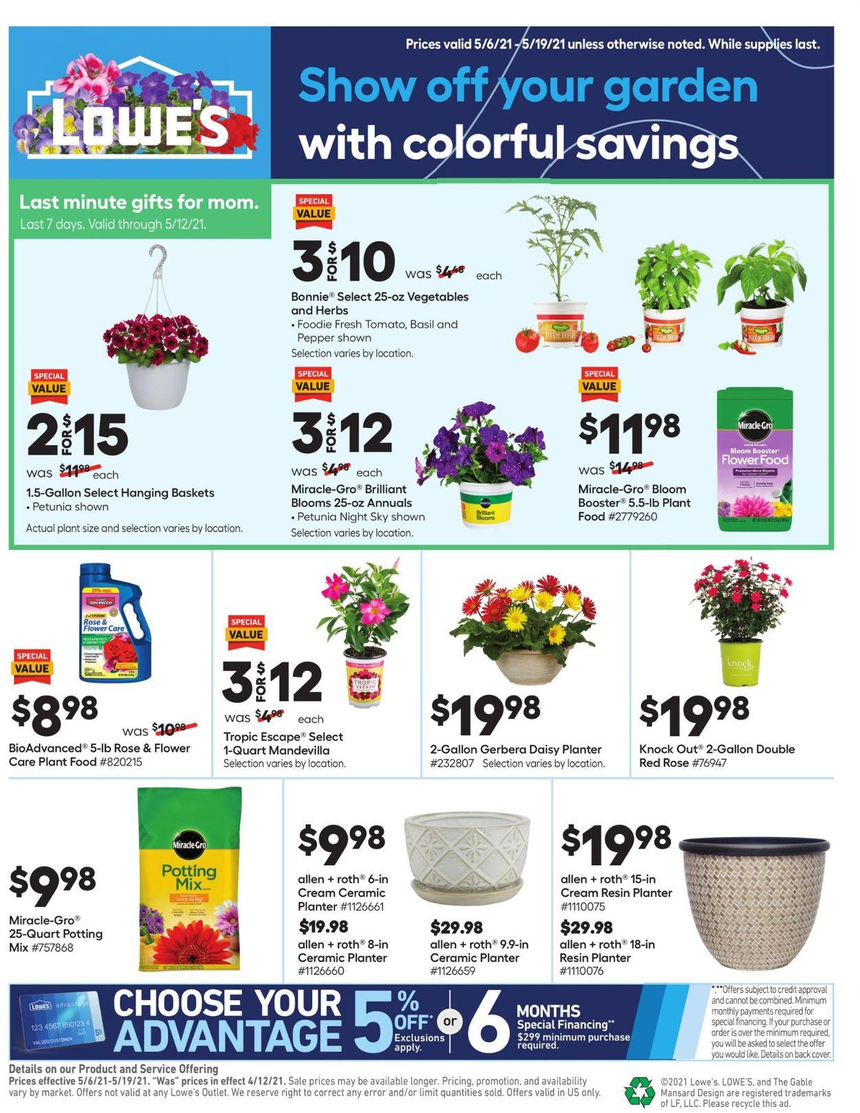 Lowe's Weekly Ad Circular - valid 05/06-05/19/2021