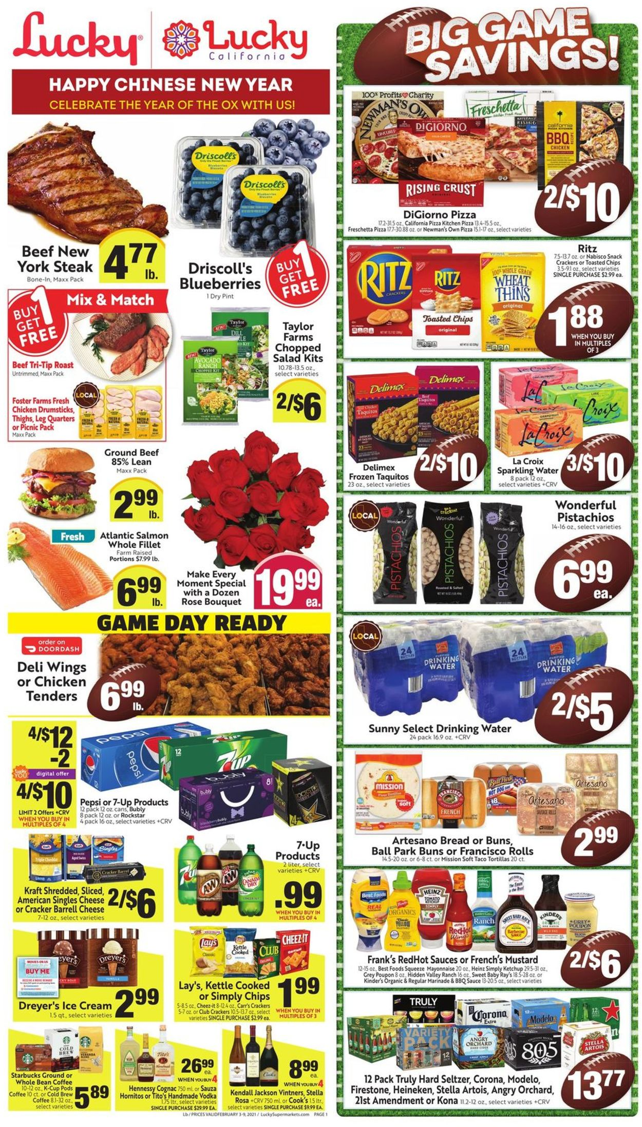 Lucky Supermarkets Weekly Ad Circular - valid 02/03-02/09/2021
