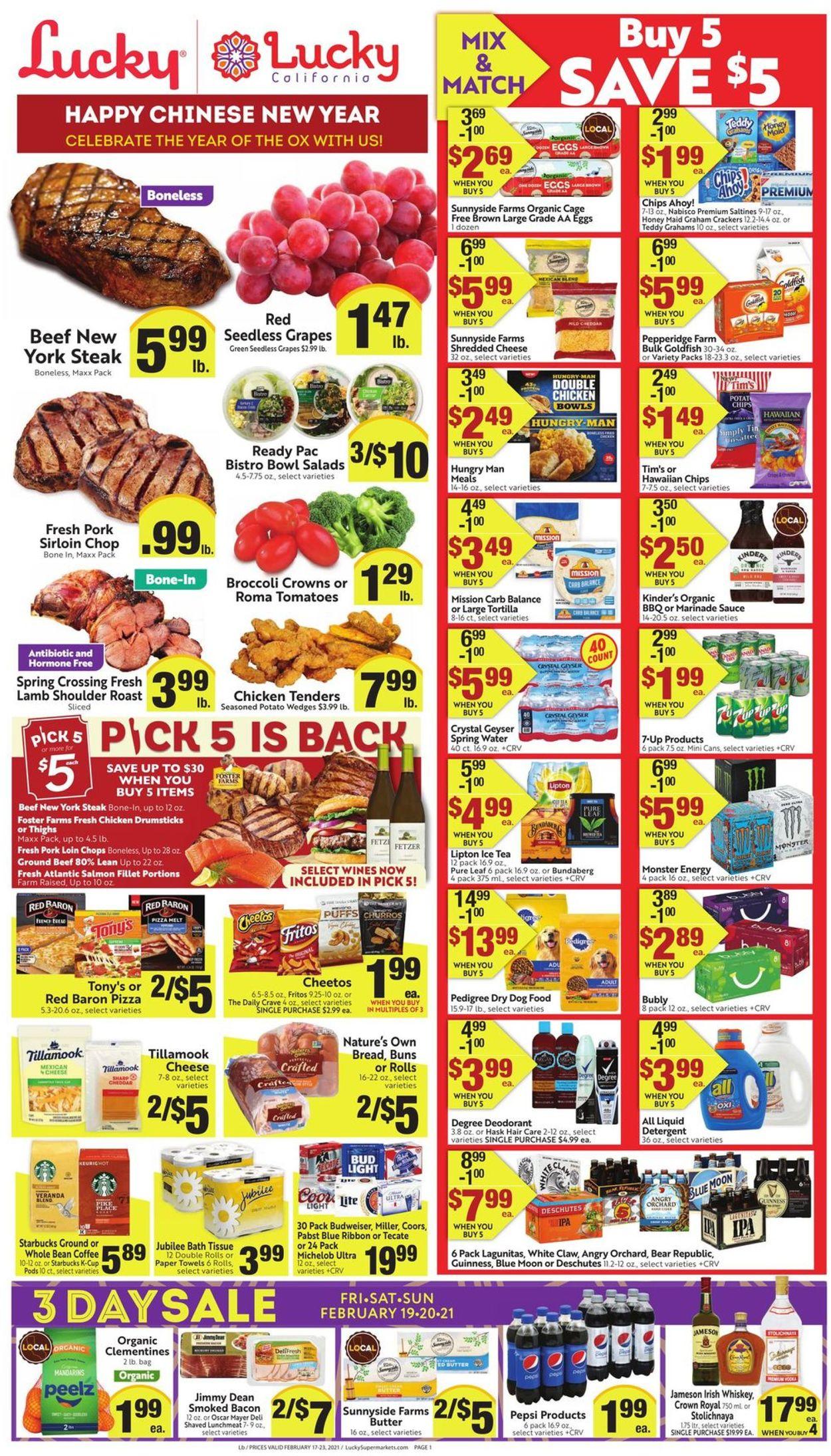 Lucky Supermarkets Weekly Ad Circular - valid 02/17-02/23/2021