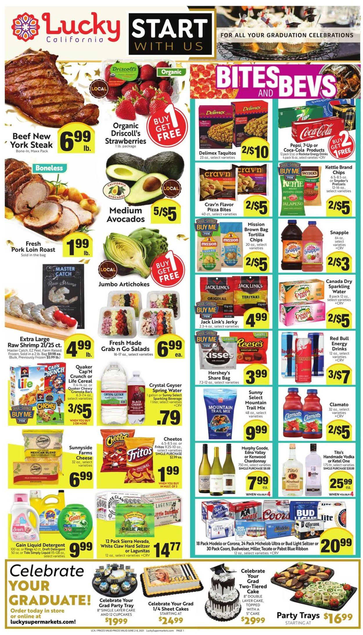 Lucky Supermarkets Weekly Ad Circular - valid 06/02-06/08/2021