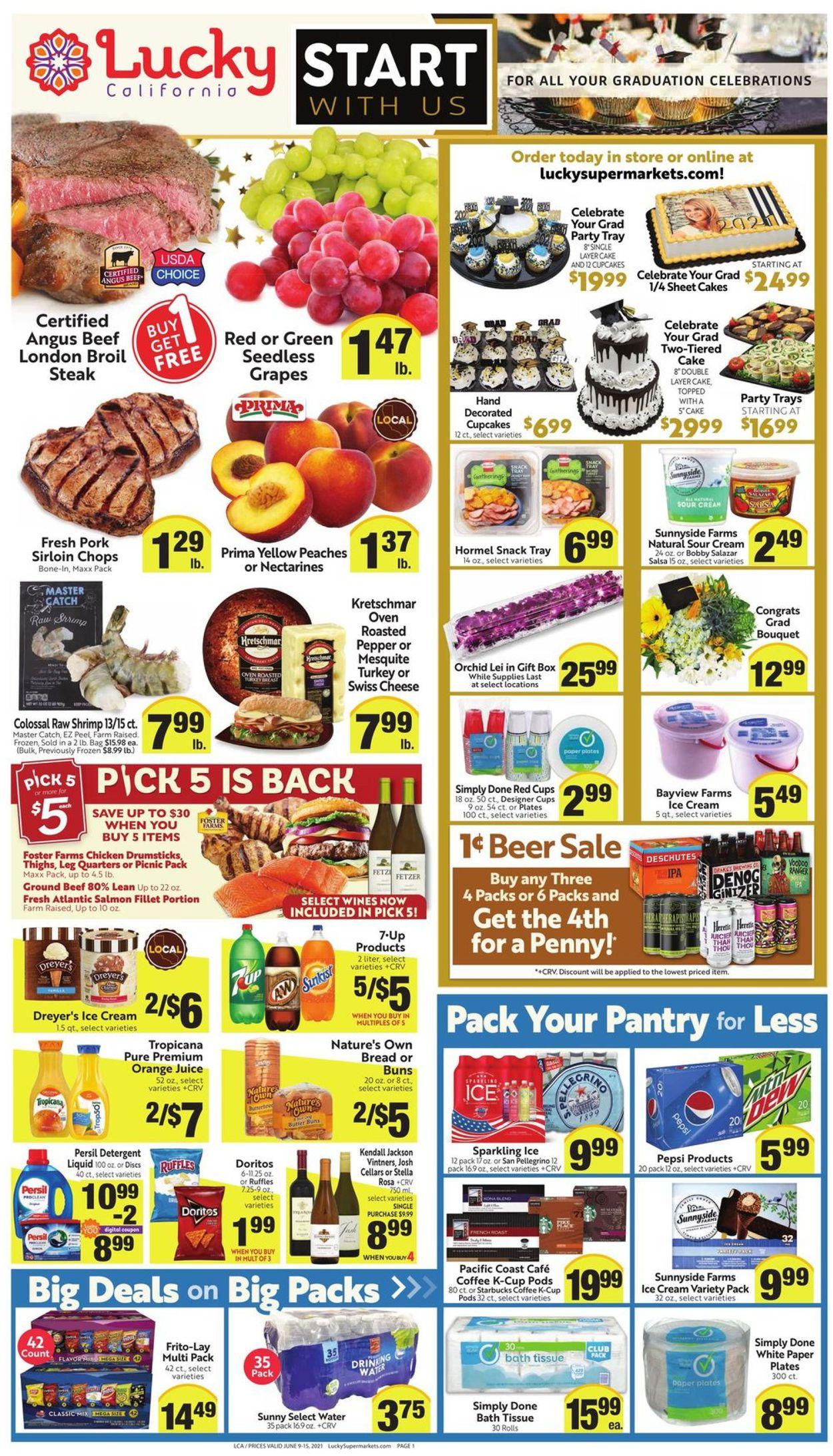 Lucky Supermarkets Weekly Ad Circular - valid 06/09-06/15/2021