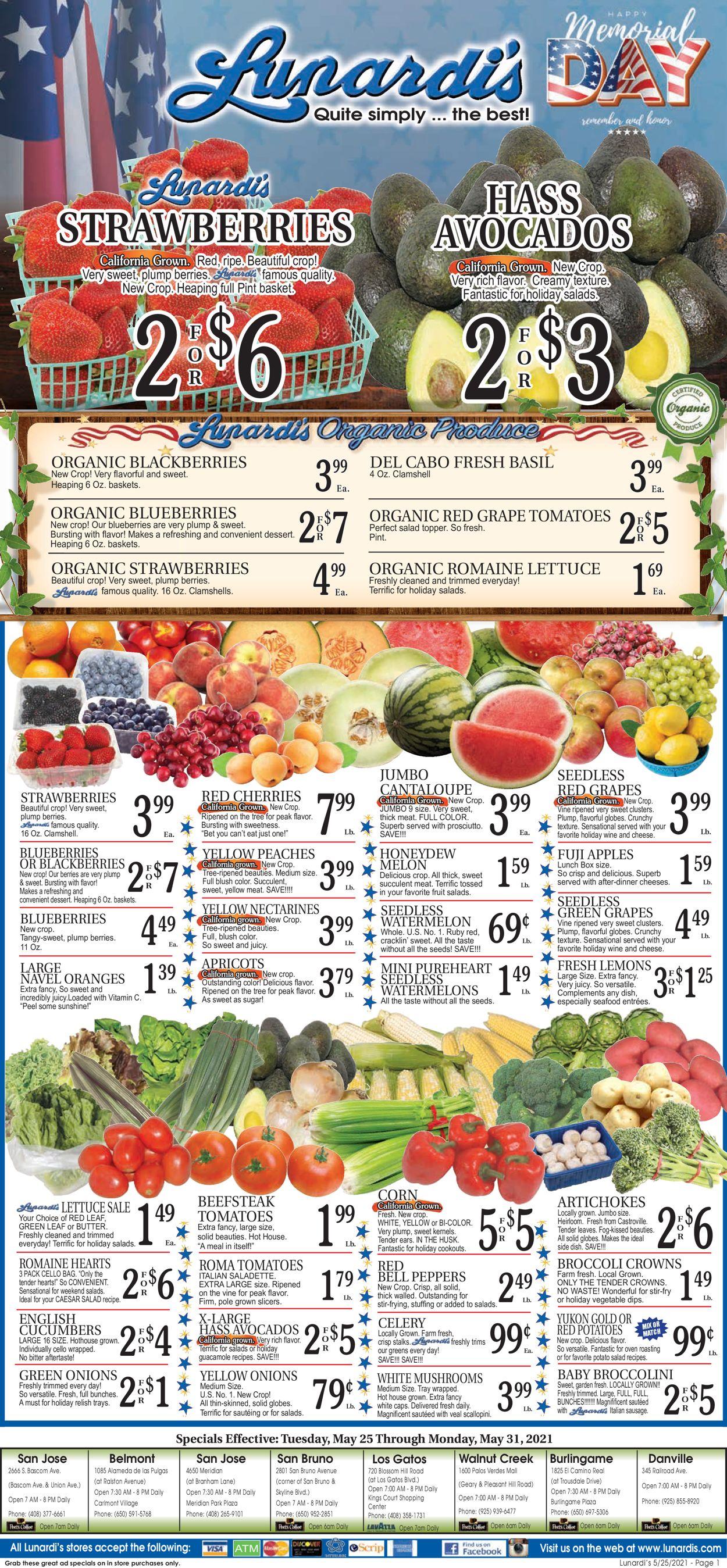 Lunardis Weekly Ad Circular - valid 05/25-05/31/2021