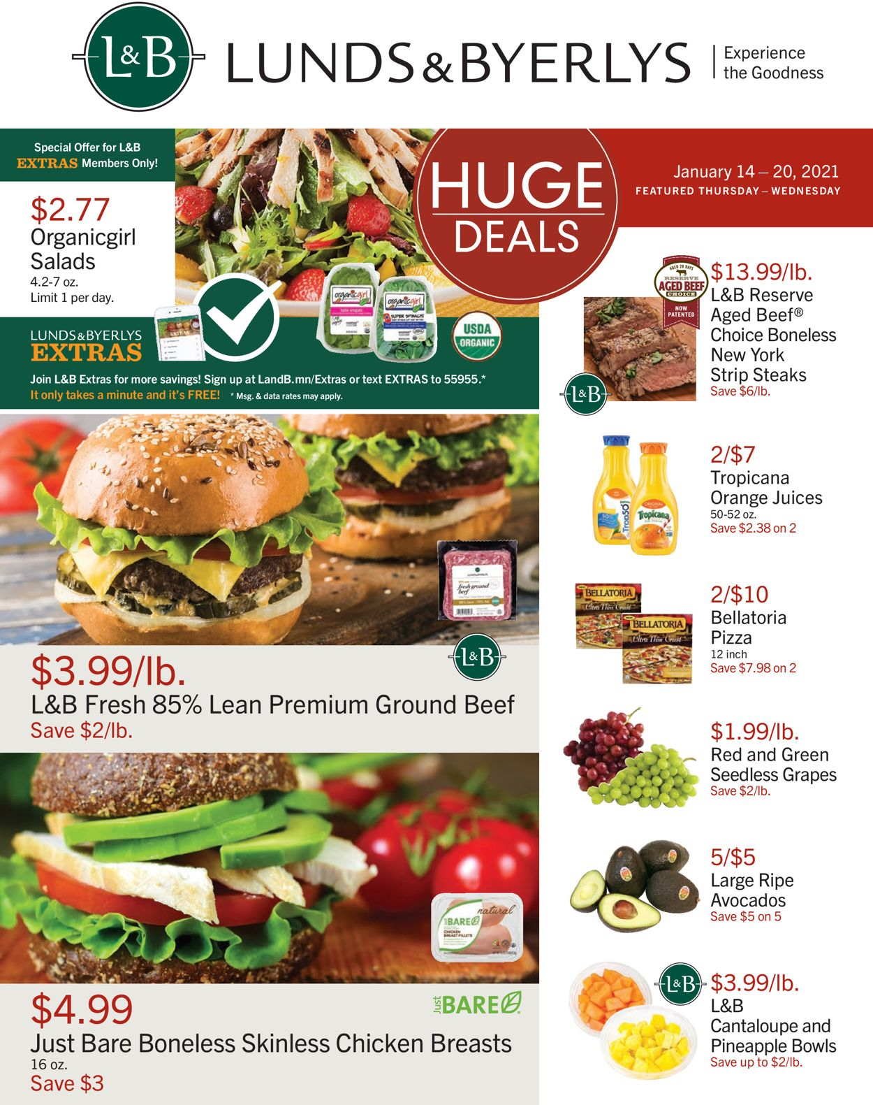 Lunds & Byerlys Weekly Ad Circular - valid 01/14-01/20/2021