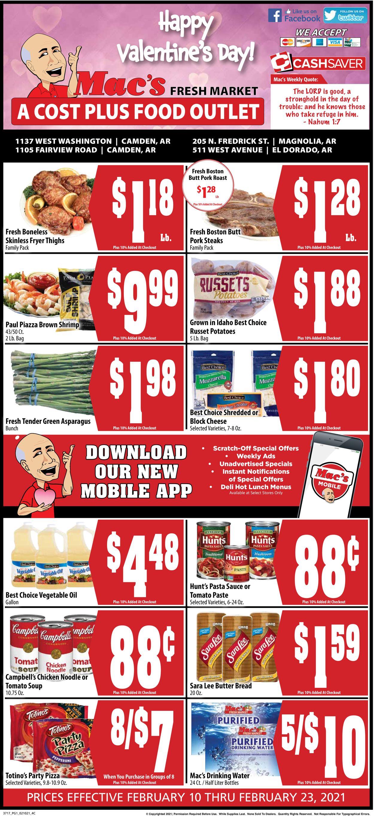 Mac's Freshmarket Weekly Ad Circular - valid 02/10-02/23/2021