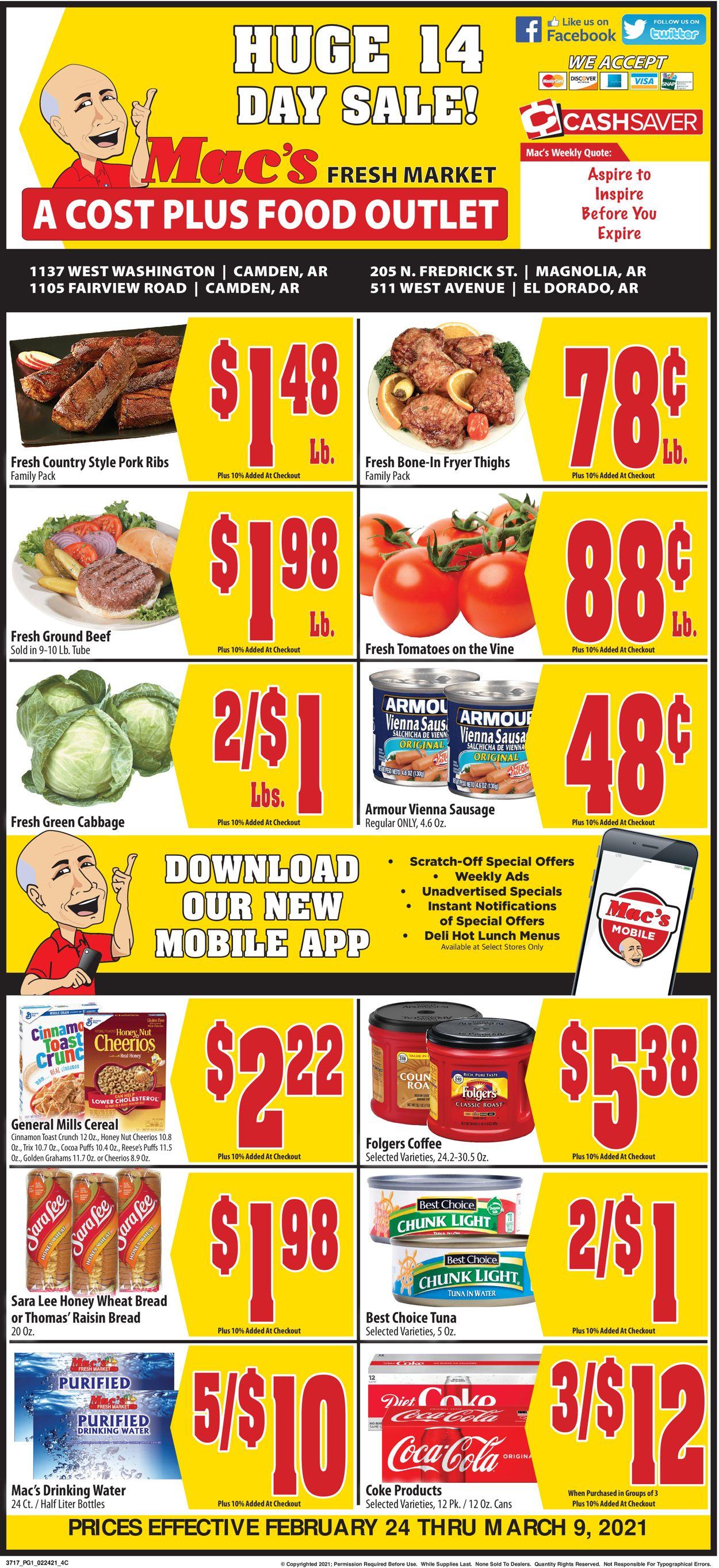 Mac's Freshmarket Weekly Ad Circular - valid 02/24-03/09/2021