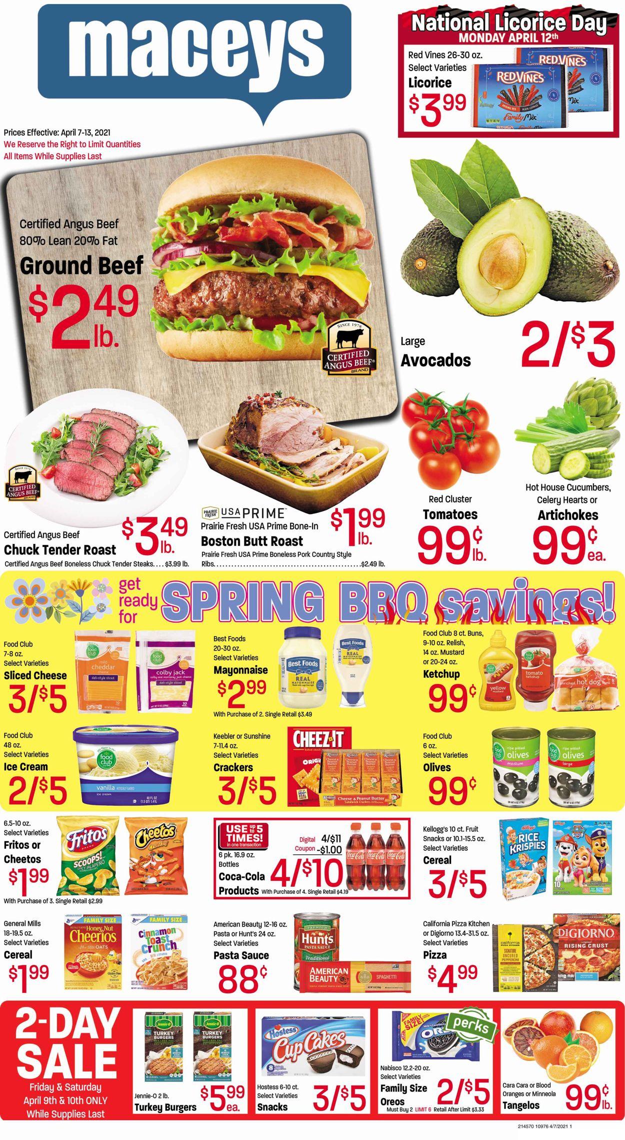 Maceys Weekly Ad Circular - valid 04/07-04/13/2021
