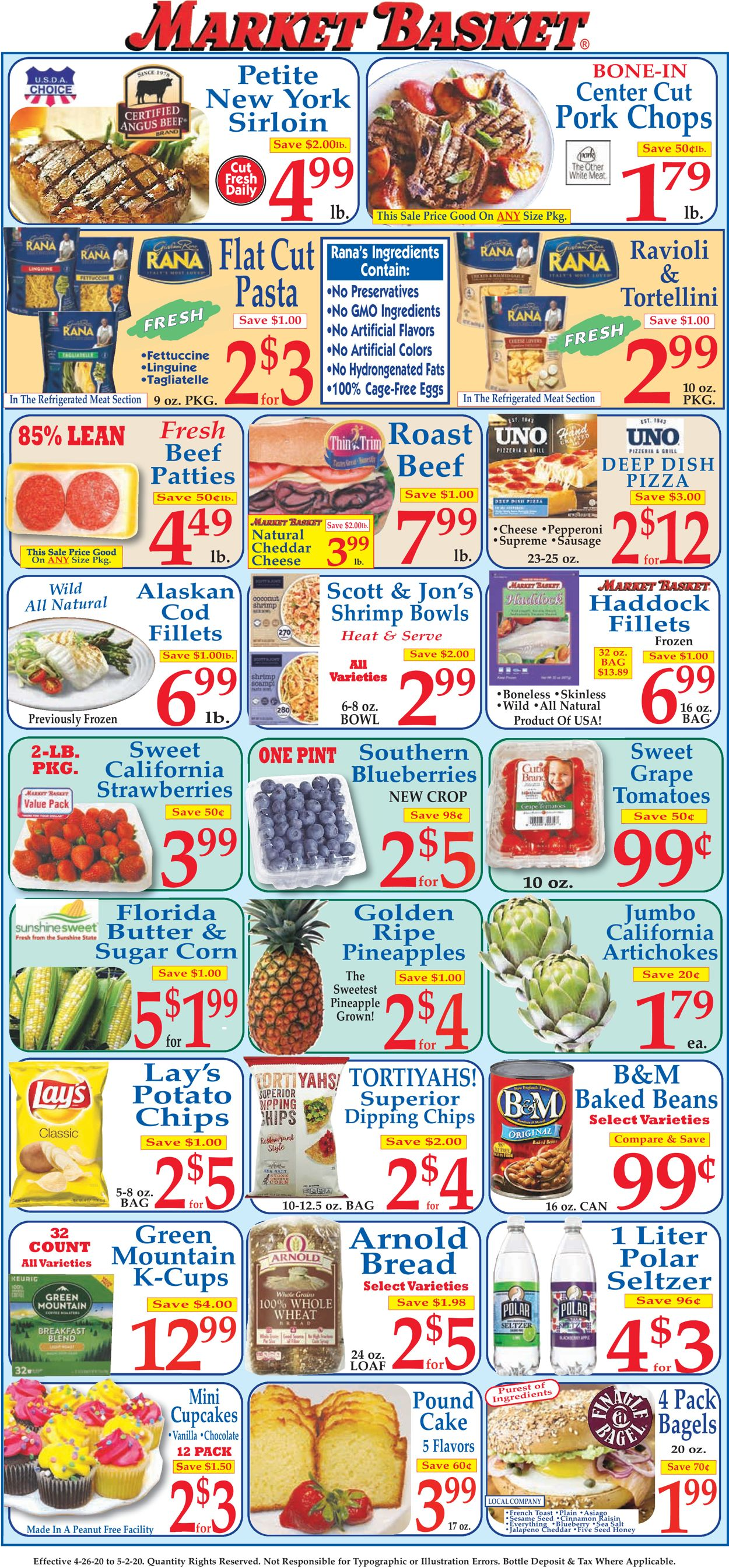 Market Basket Weekly Ad Circular - valid 04/26-05/02/2020
