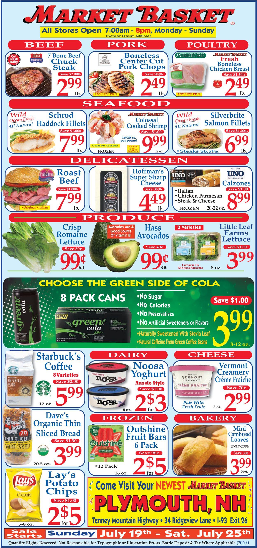Market Basket Weekly Ad Circular - valid 07/19-07/25/2020