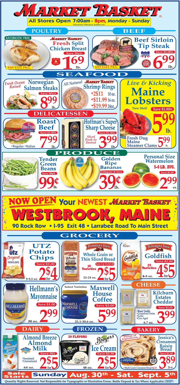 Market Basket Weekly Ad Circular - valid 08/30-09/05/2020