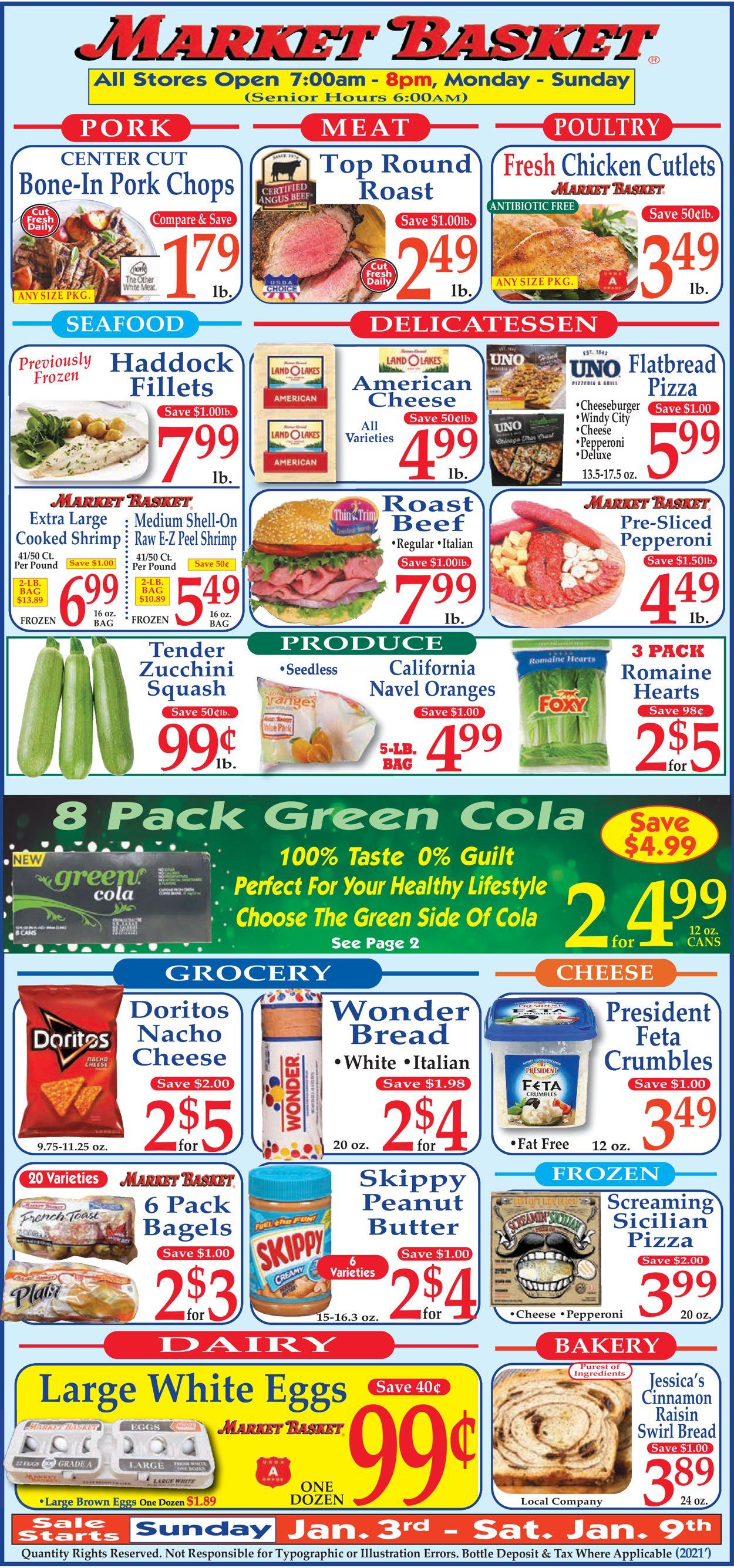 Market Basket Weekly Ad Circular - valid 01/03-01/09/2021
