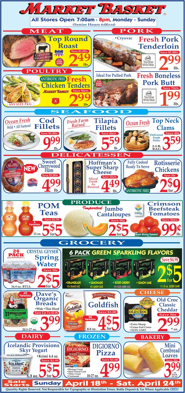 Market Basket Weekly Ad Circular - valid 04/18-04/24/2021