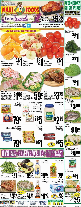 Maxi Foods Weekly Ad Circular - valid 02/17-02/23/2021