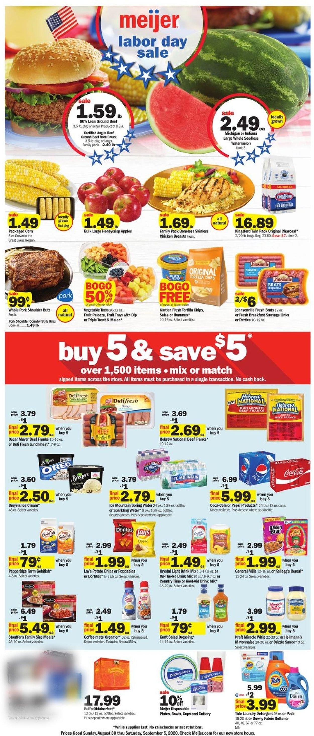 Meijer Weekly Ad Circular - valid 08/30-09/05/2020