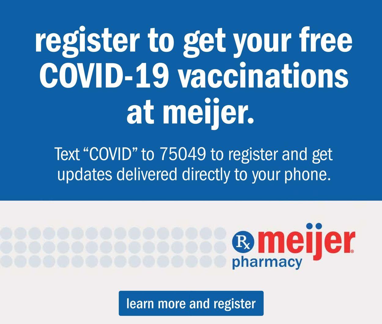 Meijer COVID-19 Vaccine Availability 2021 Weekly Ad Circular - valid 01/17-01/30/2021