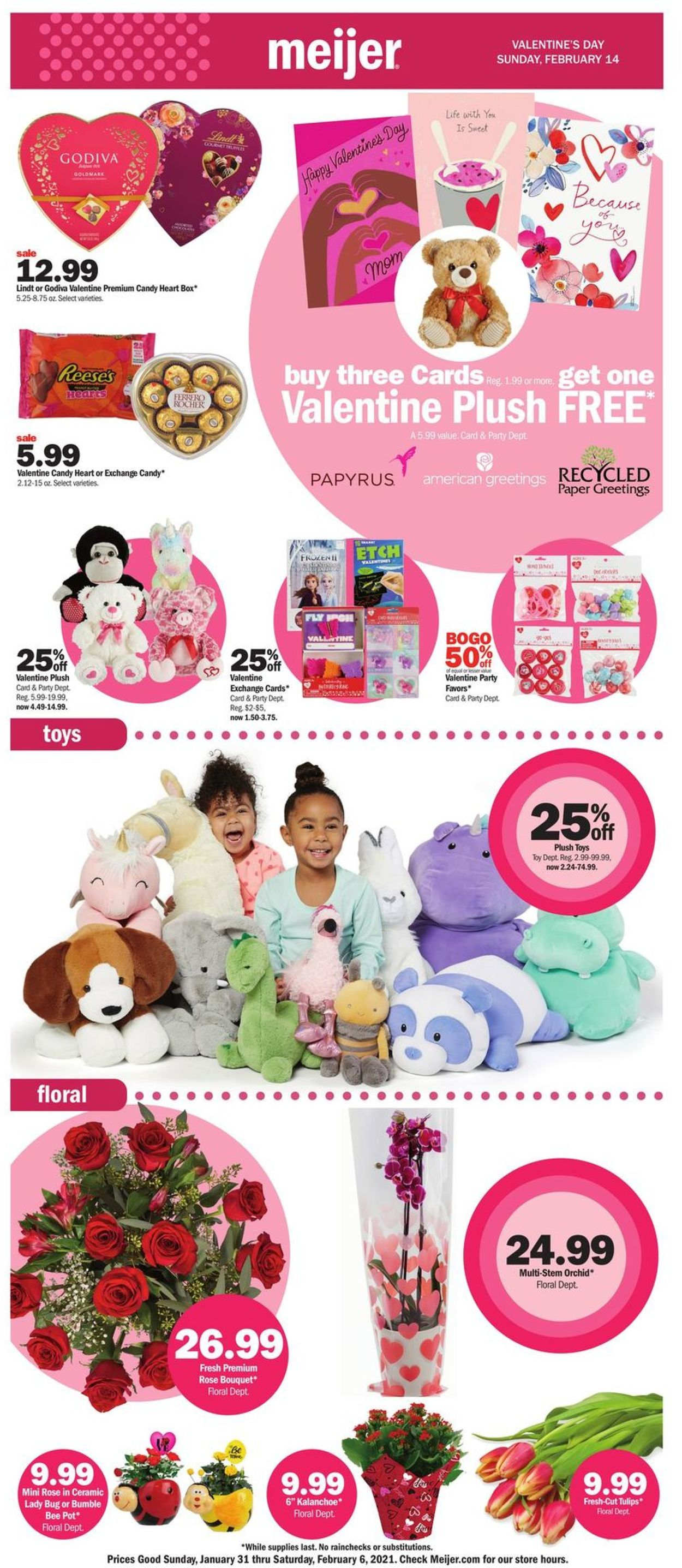 Meijer Valentine's Day Ad 2021 Weekly Ad Circular - valid 01/31-02/06/2021