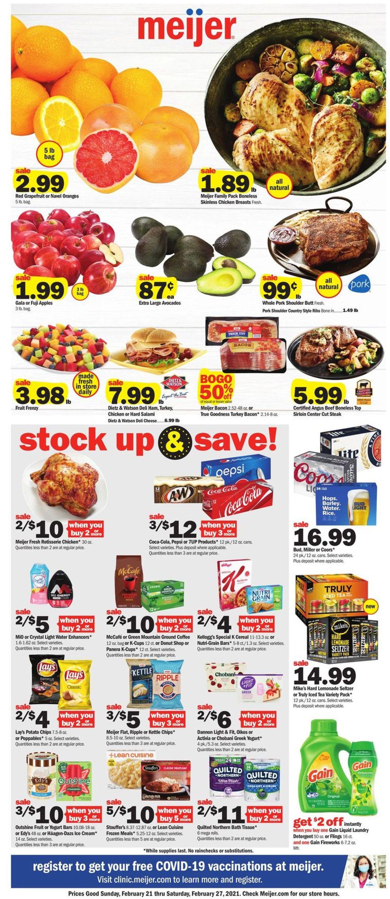 Meijer Weekly Ad Circular - valid 02/21-02/27/2021