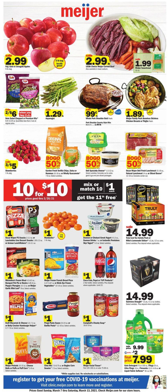 Meijer Weekly Ad Circular - valid 03/07-03/13/2021
