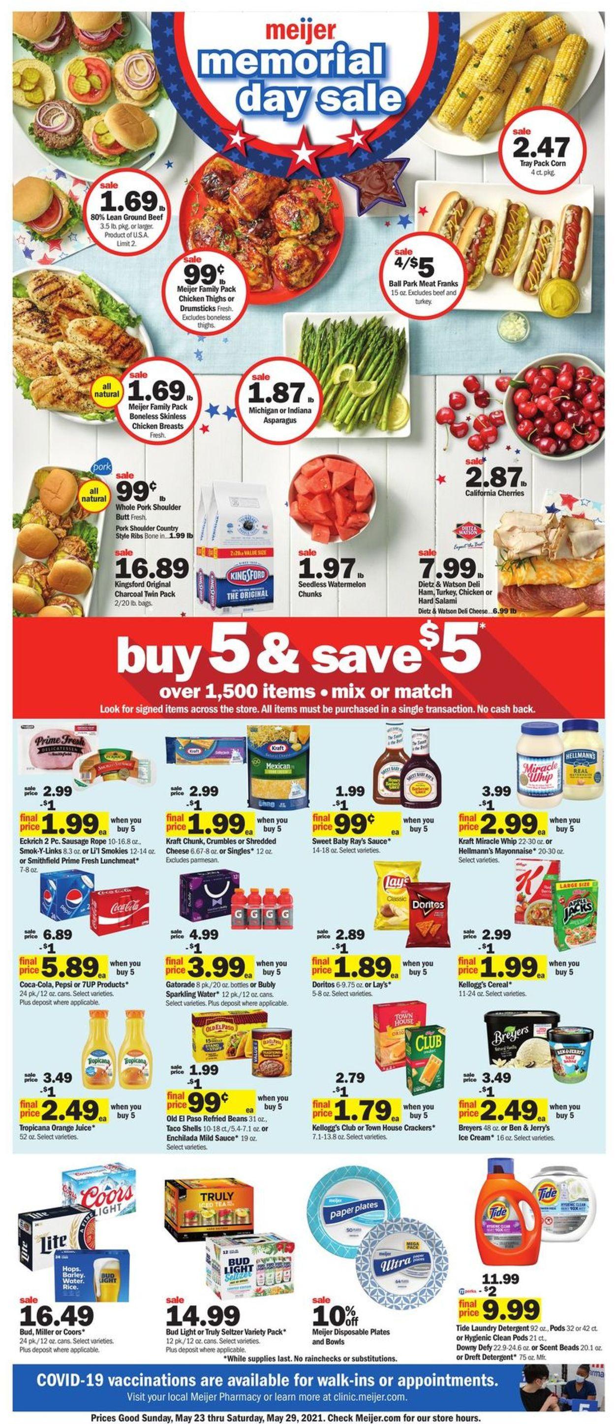 Meijer Weekly Ad Circular - valid 05/23-05/29/2021