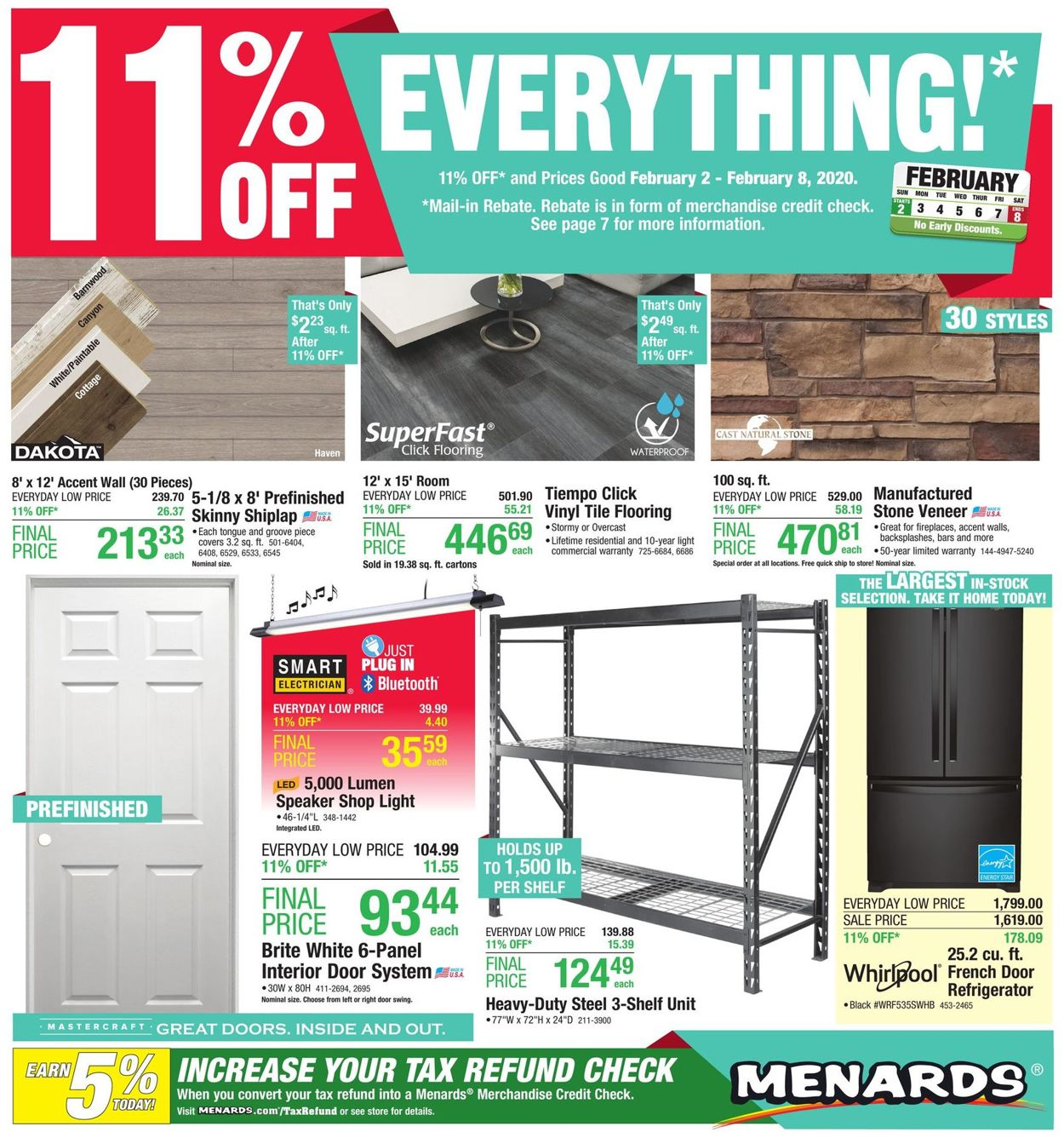 Menards Weekly Ad Circular - valid 02/02-02/08/2020
