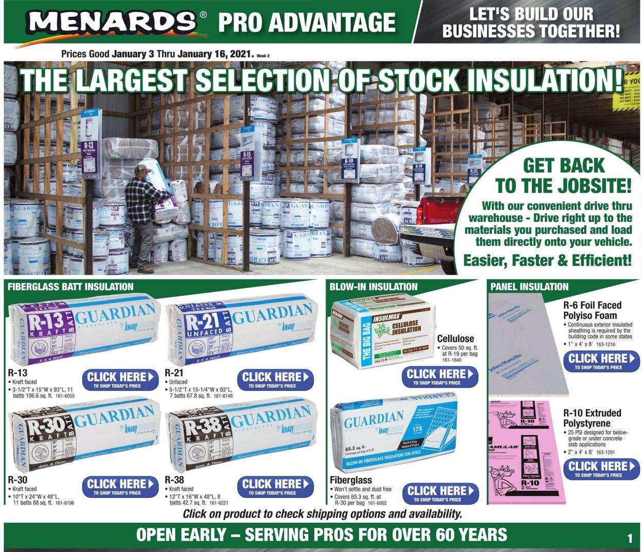 Menards Weekly Ad Circular - valid 01/03-01/16/2021