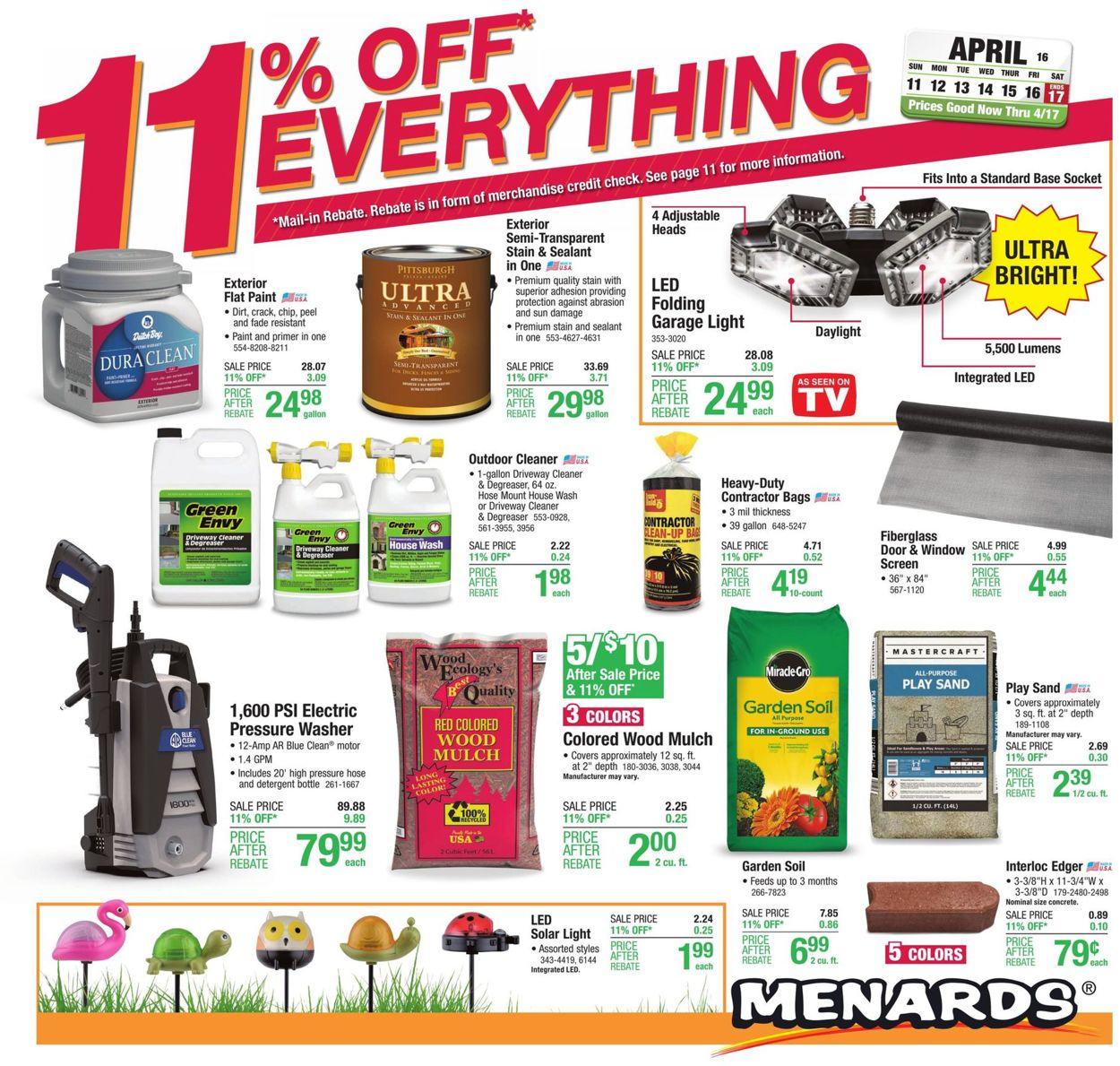 Menards Weekly Ad Circular - valid 04/11-04/17/2021