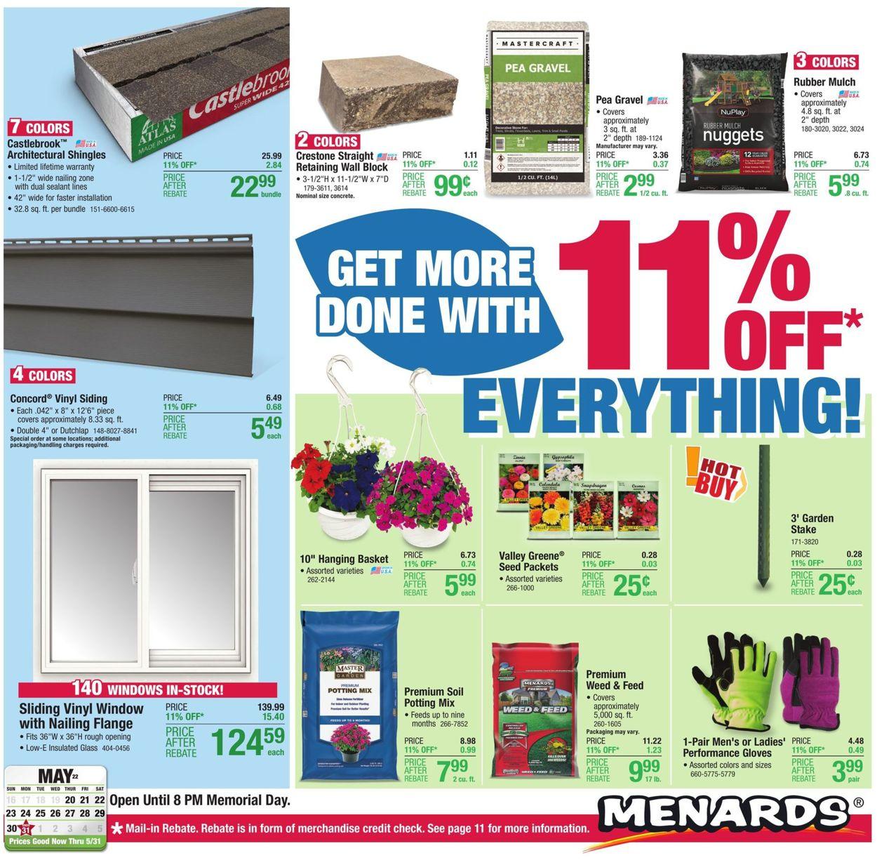 Menards Weekly Ad Circular - valid 05/20-05/31/2021