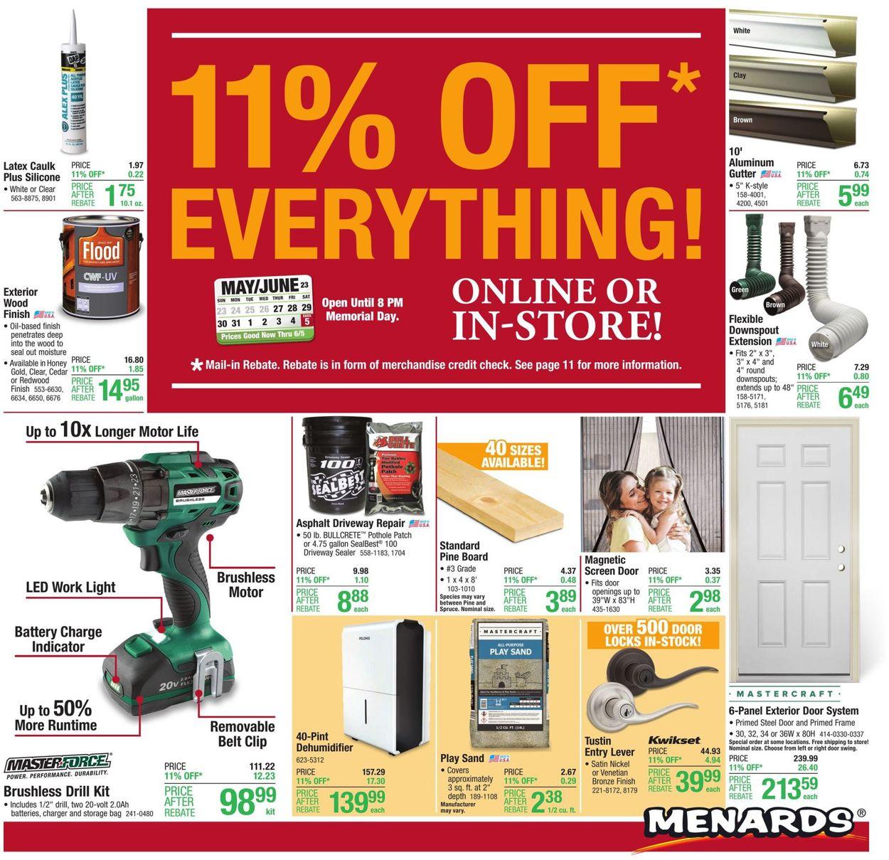 Menards Weekly Ad Circular - valid 05/27-06/05/2021