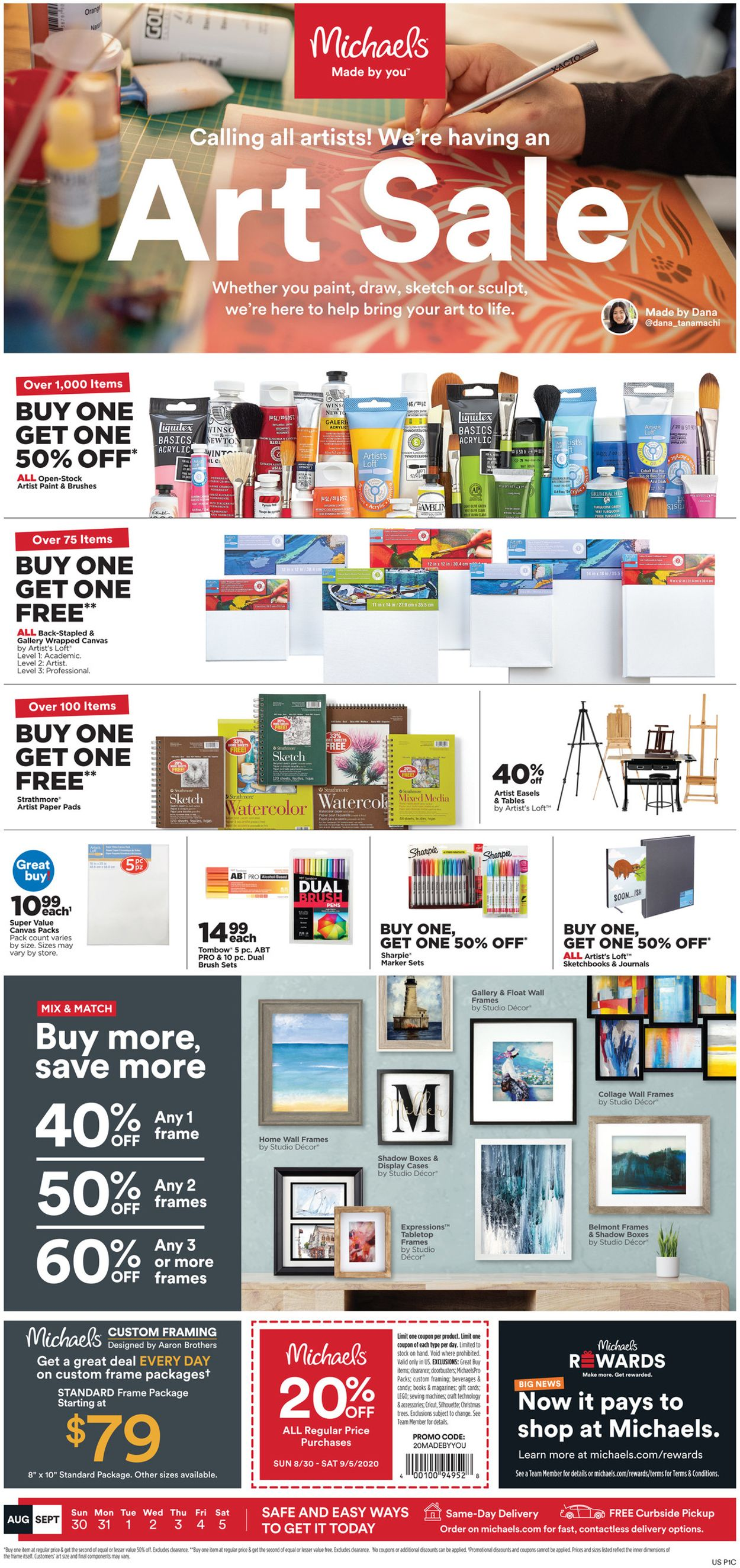 Michaels Weekly Ad Circular - valid 08/30-09/05/2020
