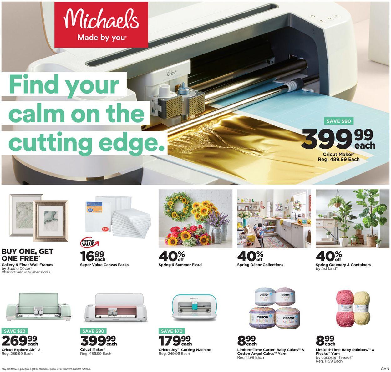 Michaels Weekly Ad Circular - valid 04/09-04/15/2021