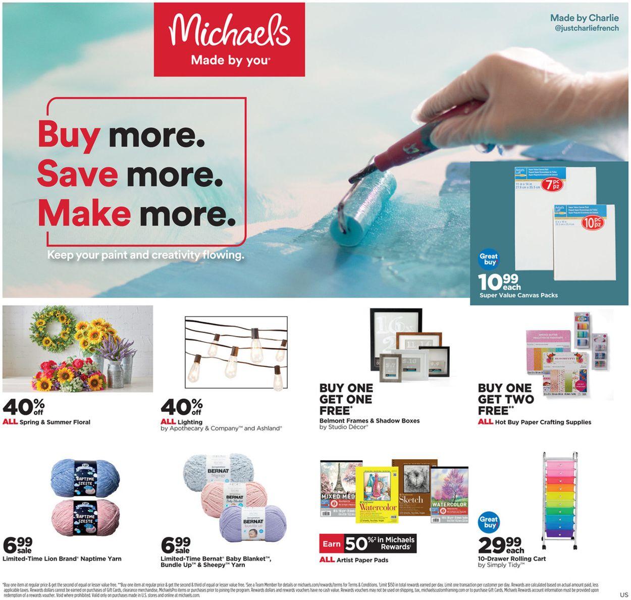 Michaels Weekly Ad Circular - valid 04/18-04/24/2021