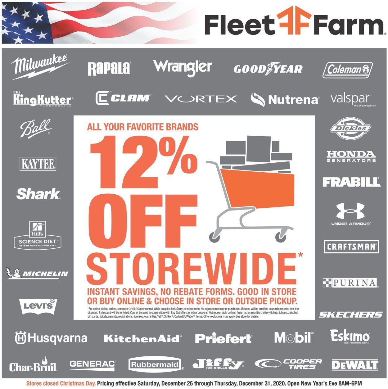 Mills Fleet Farm Weekly Ad Circular - valid 12/26-12/31/2020