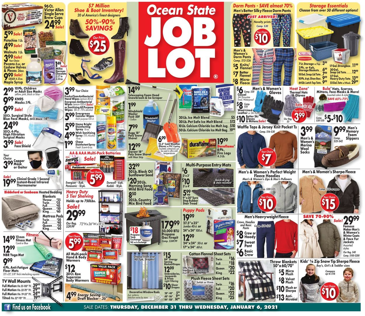 Ocean State Job Lot Weekly Ad Circular - valid 12/31-01/06/2021