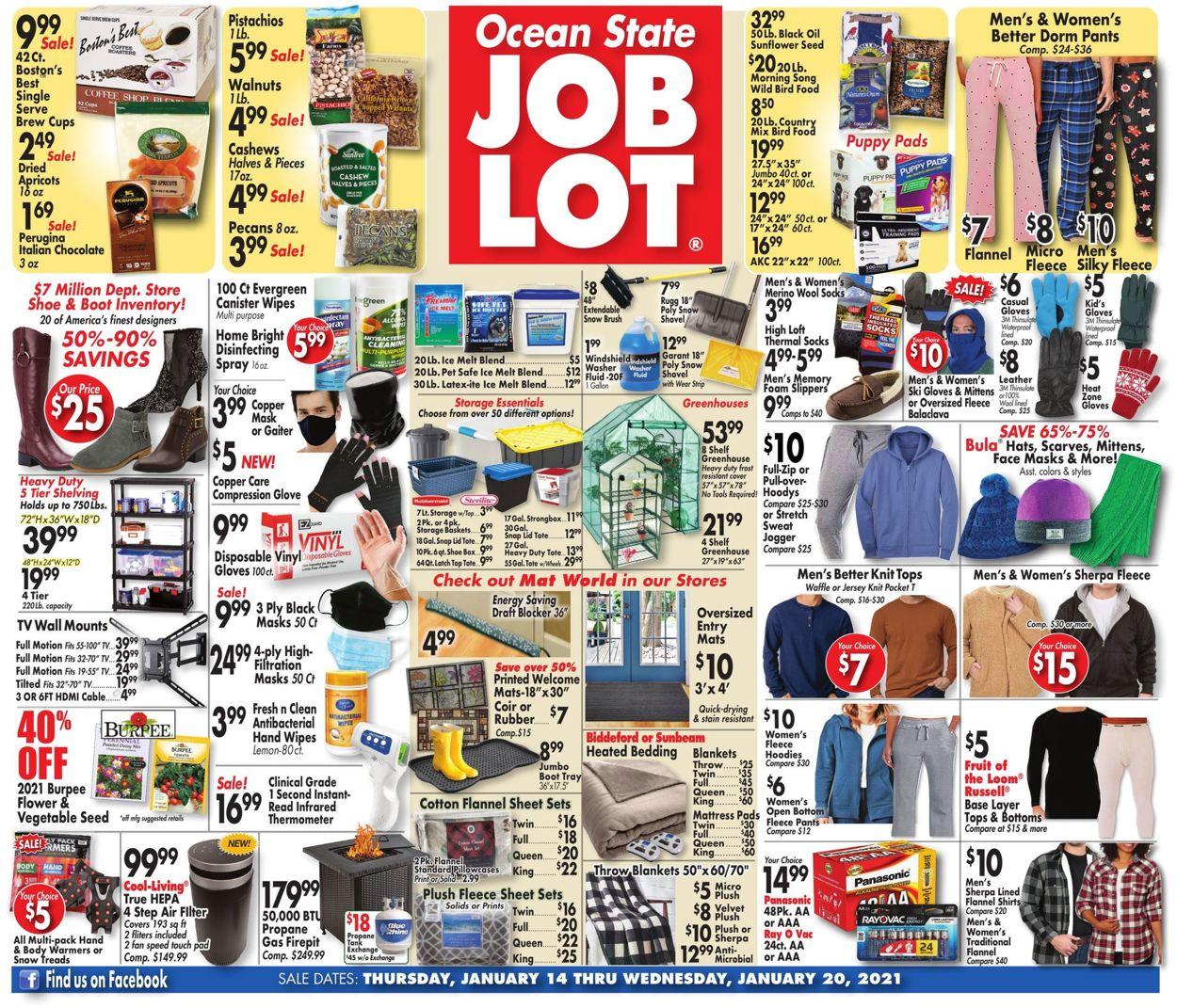 Ocean State Job Lot Weekly Ad Circular - valid 01/14-01/20/2021